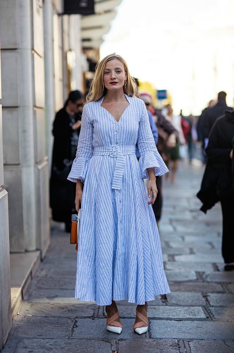 Stripe  Fit & Flare Dress  | Photo: Stockholm Streetstyle
