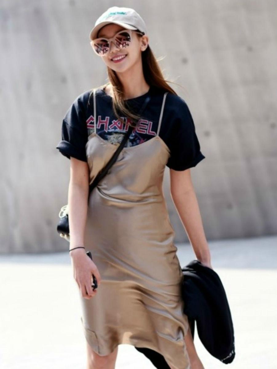 Midi  Slip Dress  | Photo: Streetper