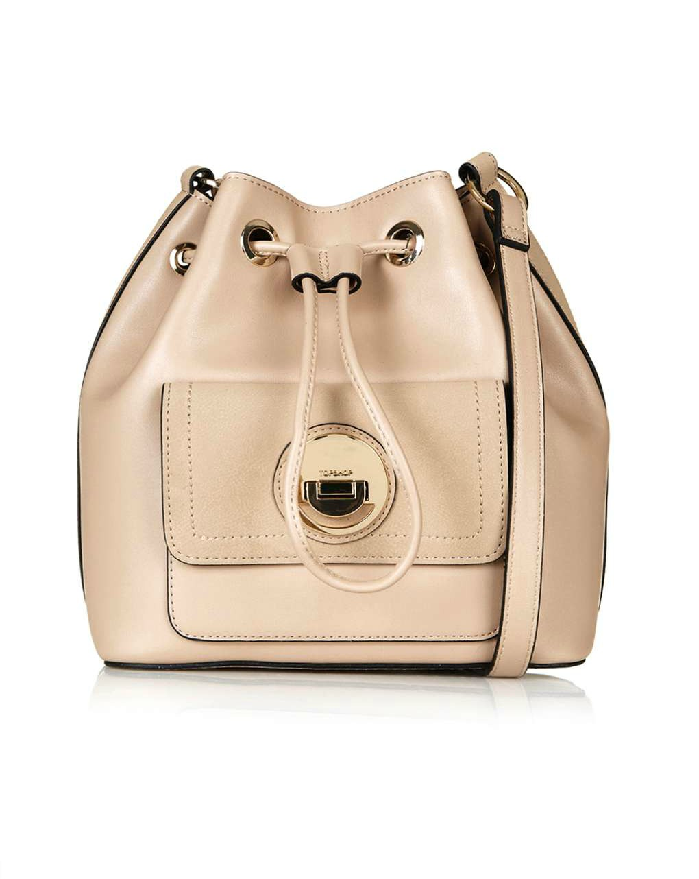 Nude  Bucket bag with circle lock  | Photo: Topshop
