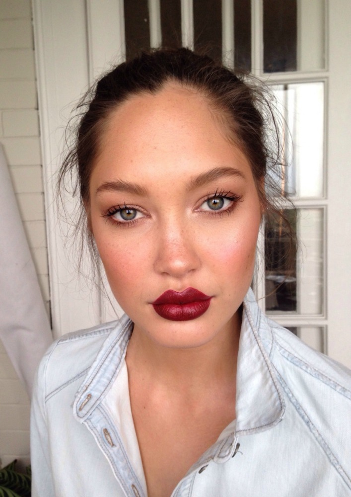 Simple Look With A Statement Lip @ acheekylifestyle.com by Val Banderman