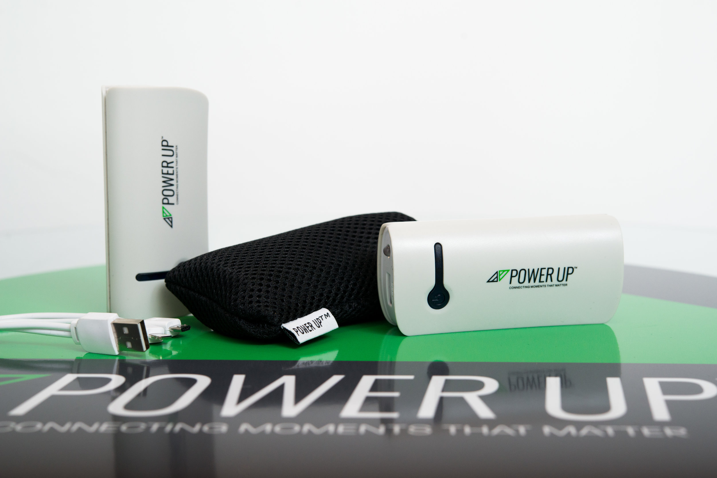Close up of pocket power chargers
