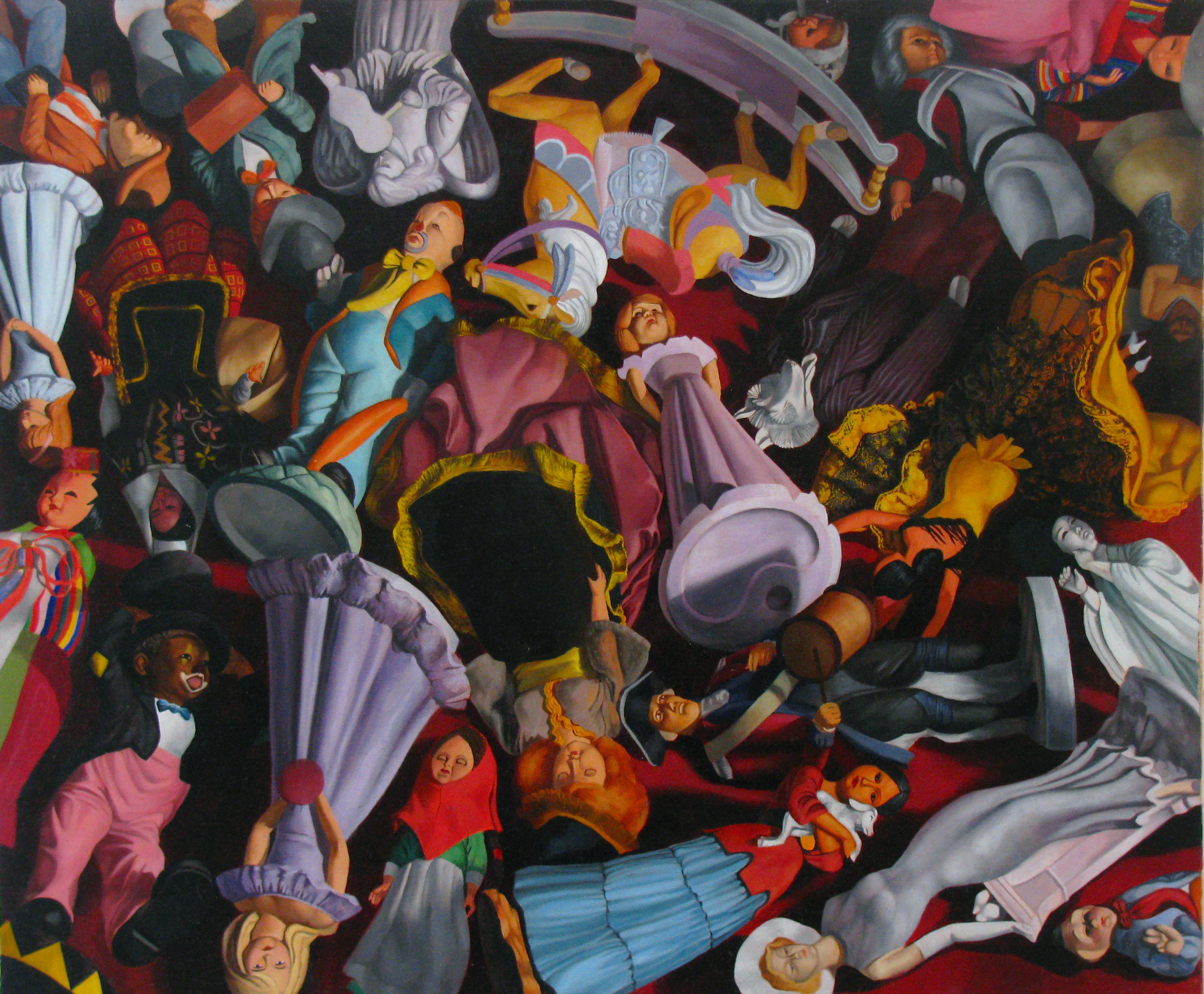 Collapse Together  28 x 24  Oil on Linen  2013