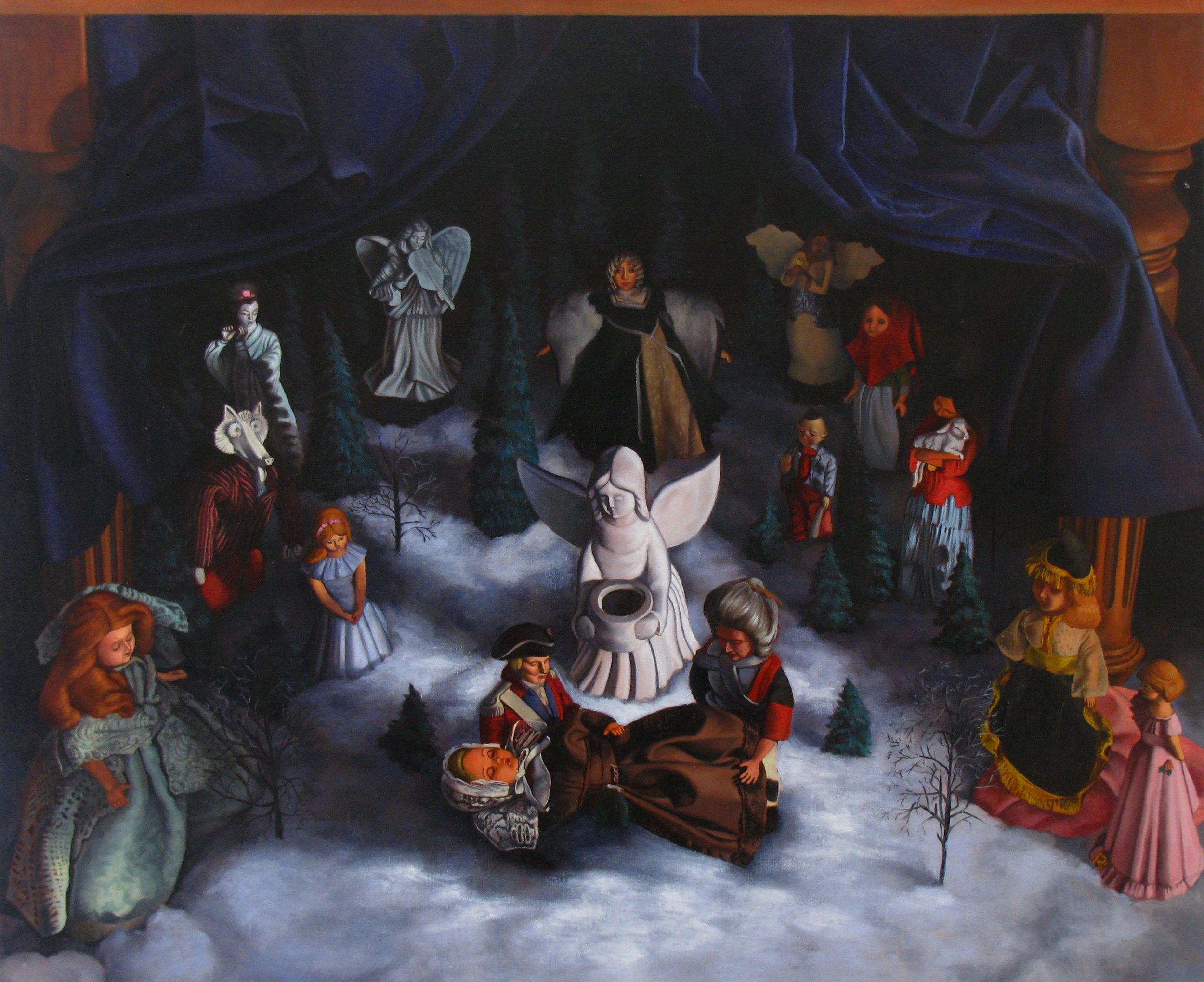Resurrection of the Civil  28 x 24  Oil on Linen  2012