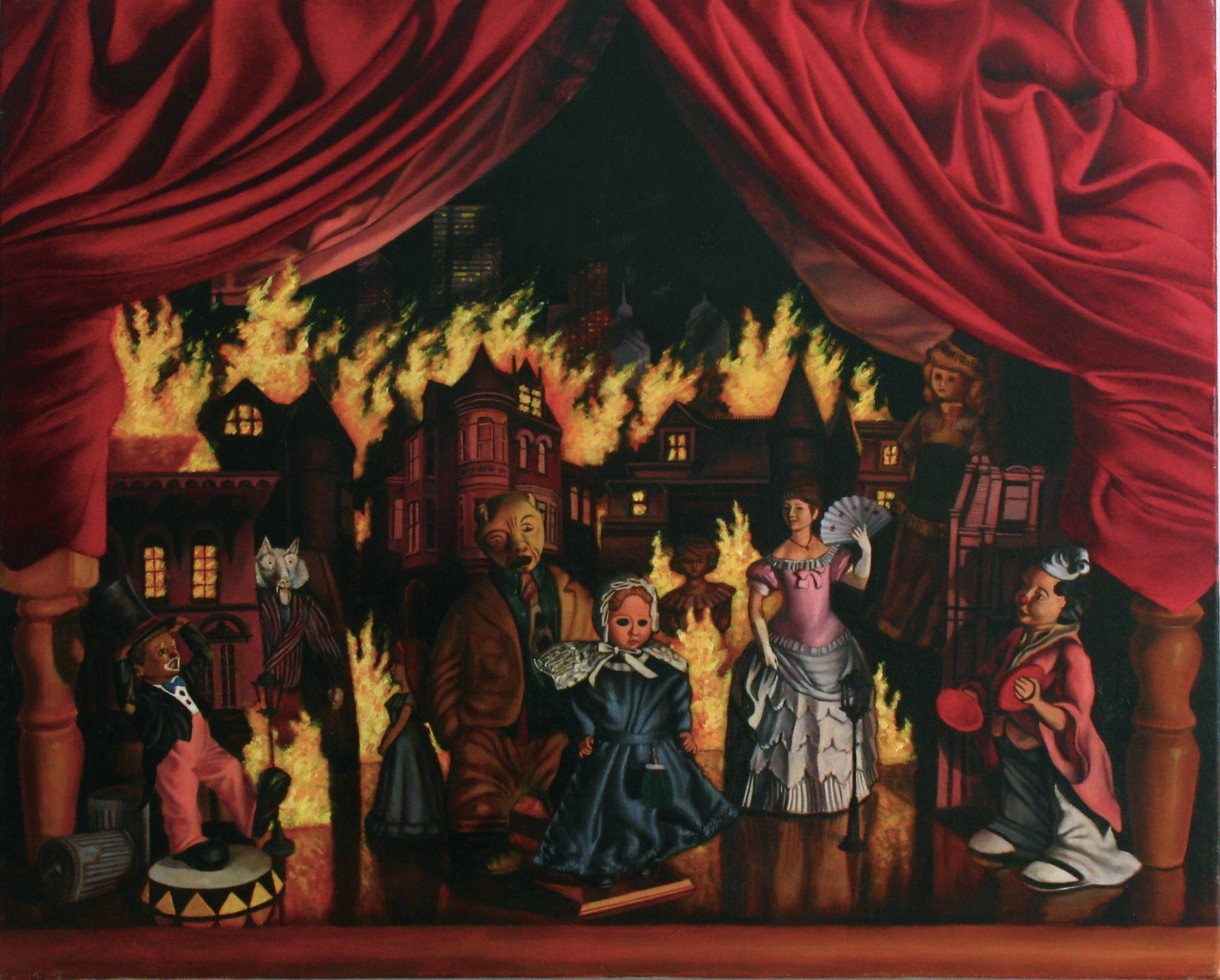 The Great Fire  20 x 24  Oil on Linen  2014