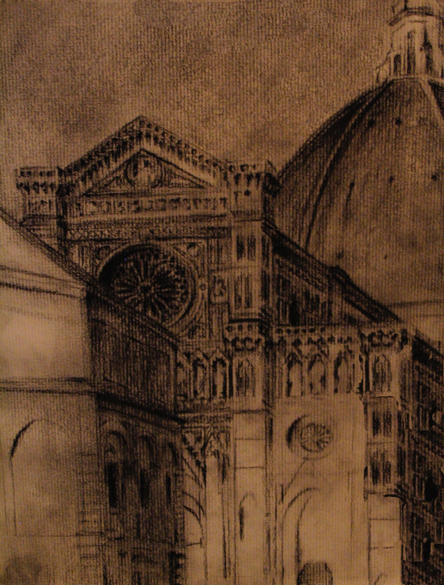 The Duomo, Florence, Italy    9 x 12  Charcoal on Paper  2007