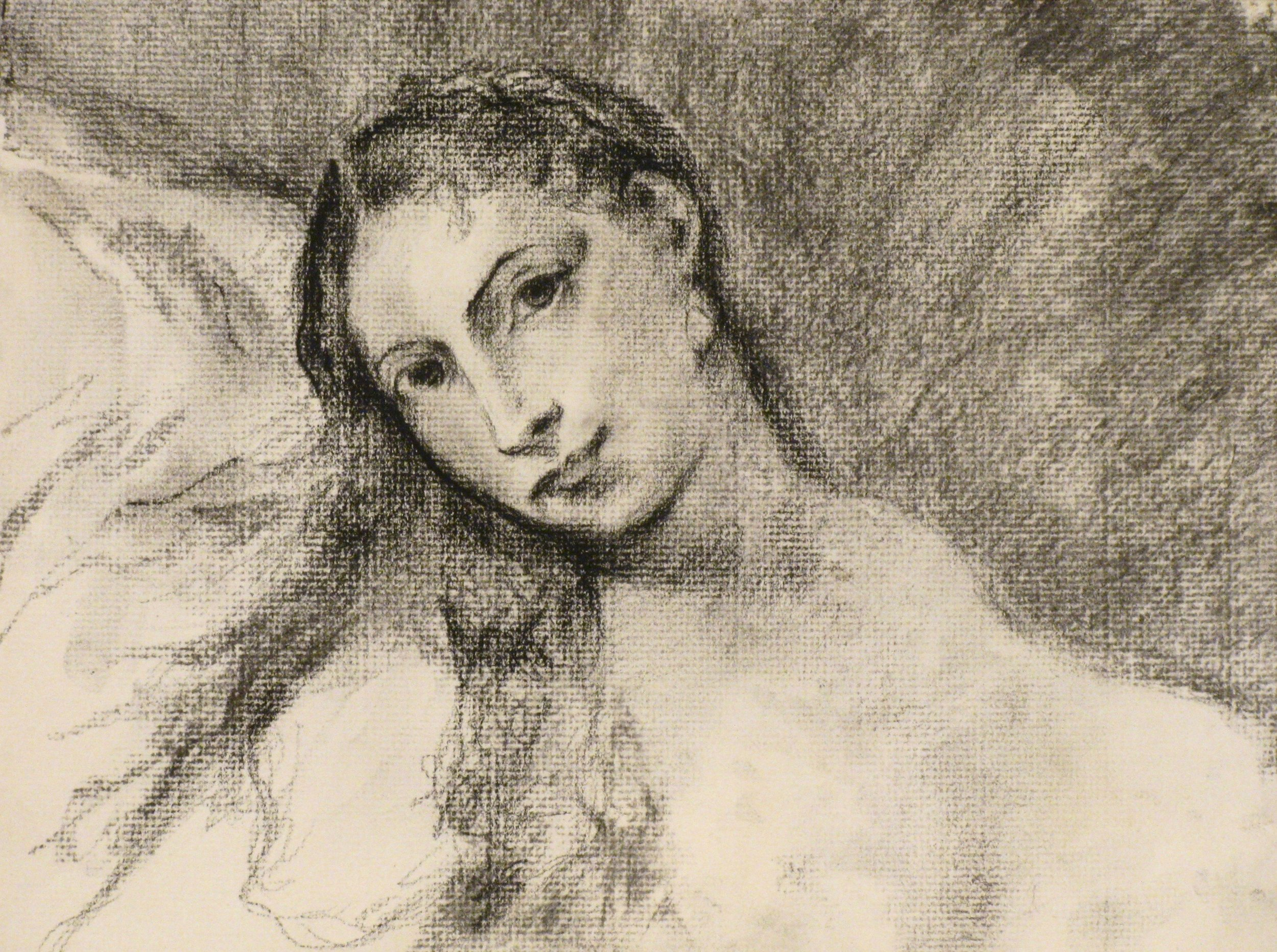 The Venus of Urbino, after Titian    9 x 12  Charcoal on Paper  2007