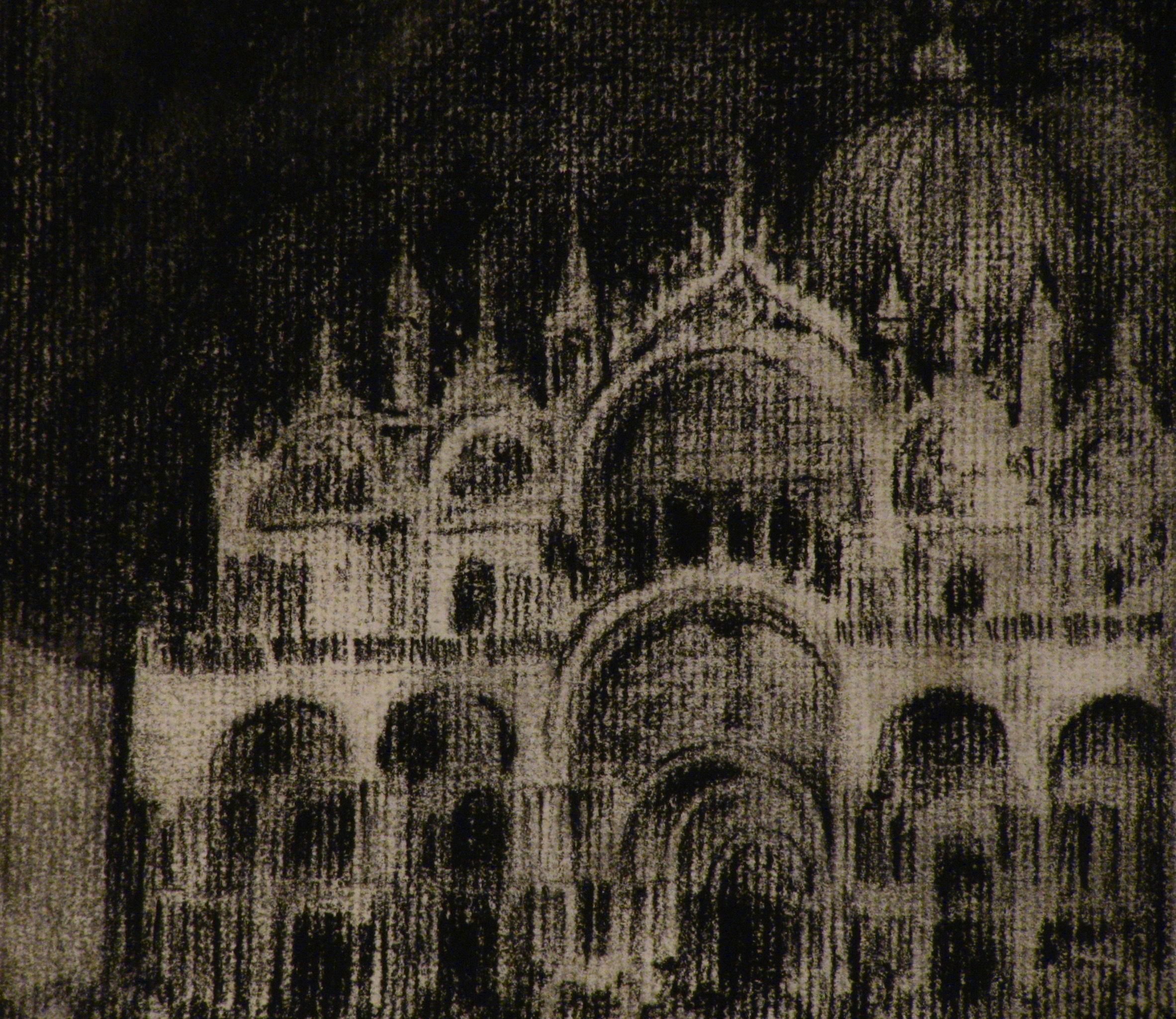 San Marco, Venice    9 x 12  Charcoal on Paper  2007