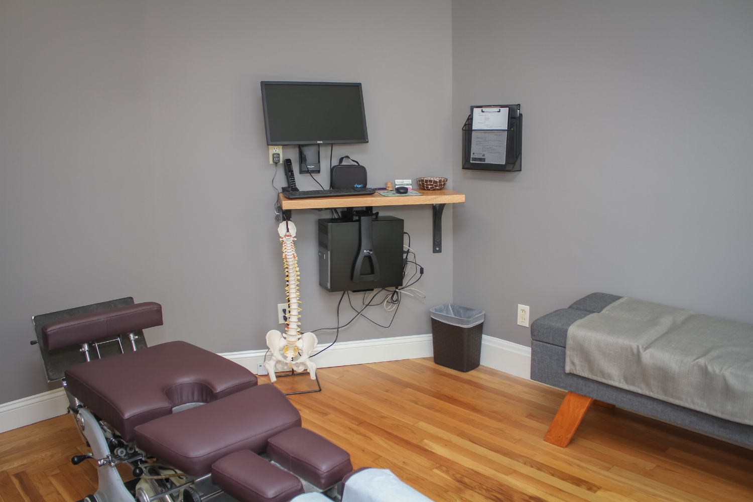 Dr. Hannah's Adjusting Room at Wolfe Family Chiropractic Metamora