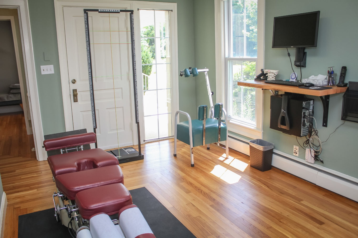 Dr. Alex's Adjusting Room at Wolfe Family Chiropractic Metmora