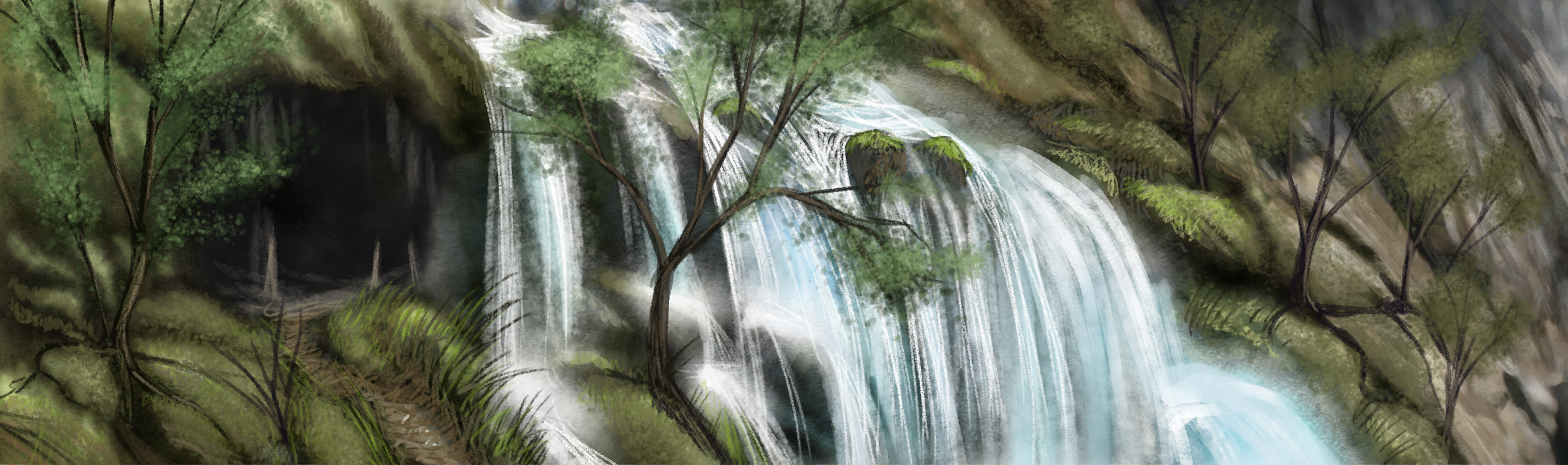 Waterfall, by Amanda Spaid