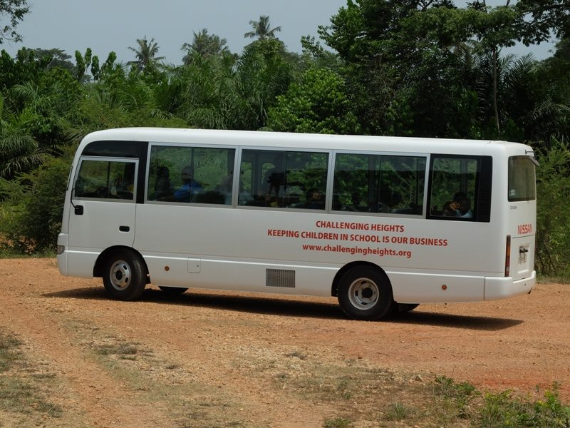 The Challenging Heights bus, purchased with the support of Freedom For All's donors