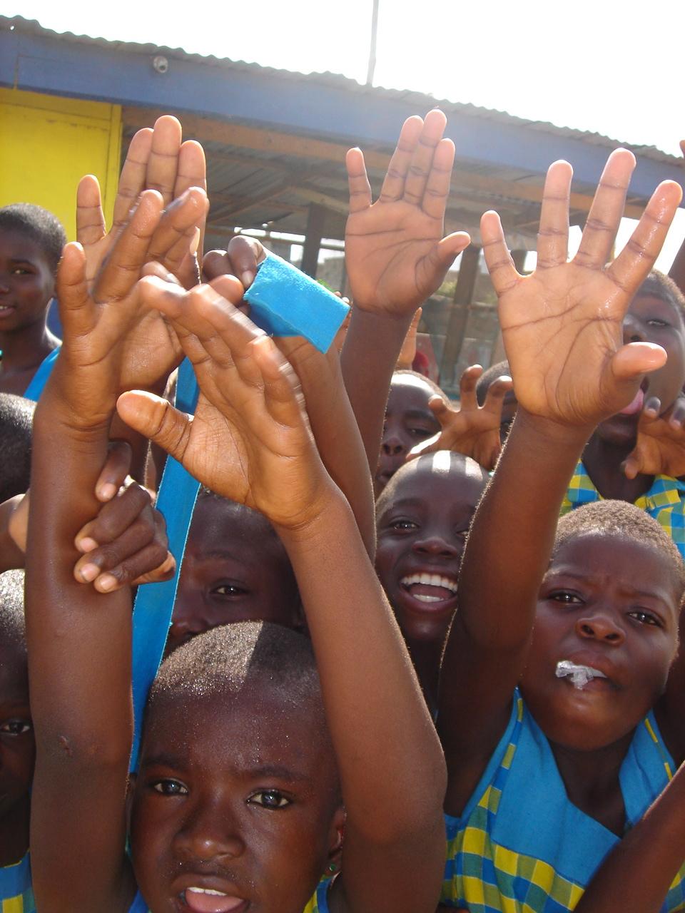 Children at the Challenging Heights school