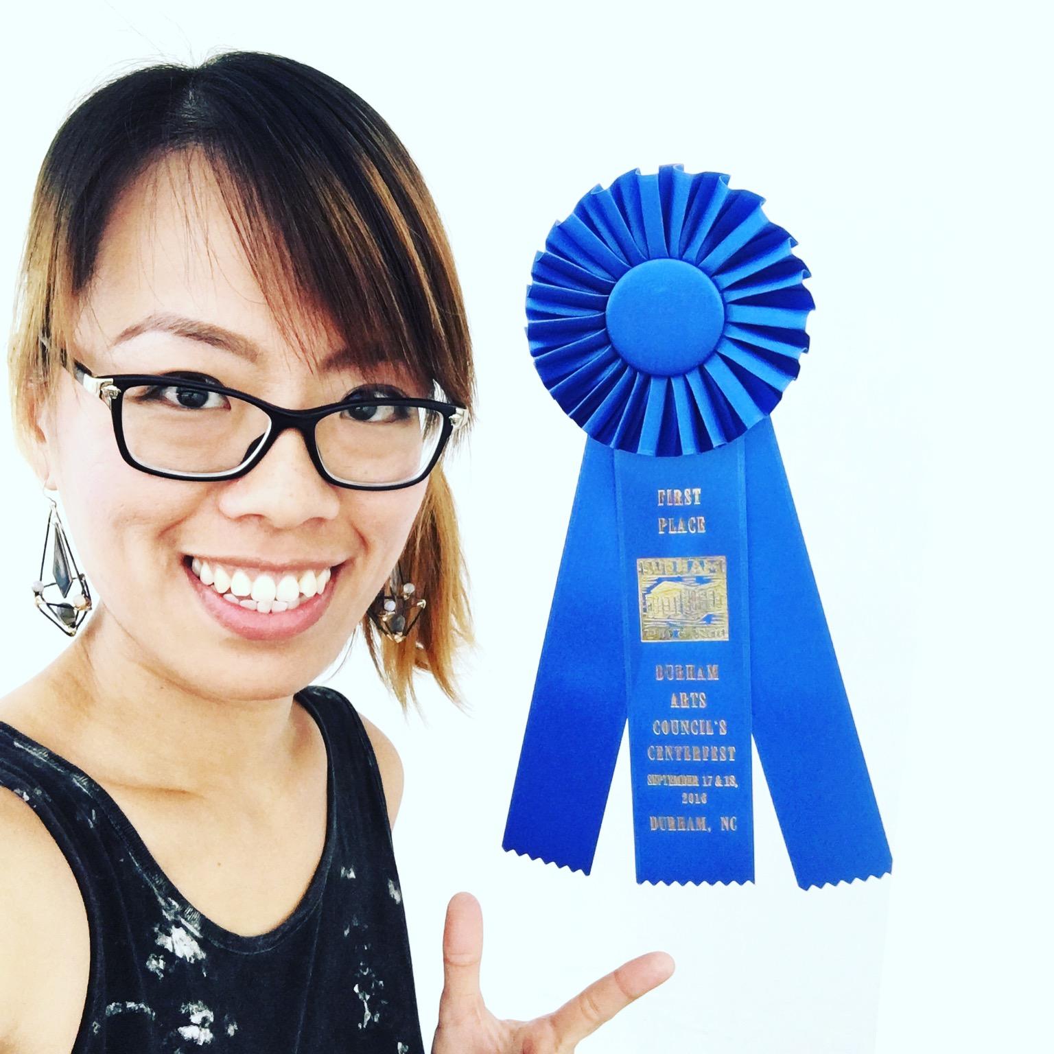 A winner deserves a selfie lol