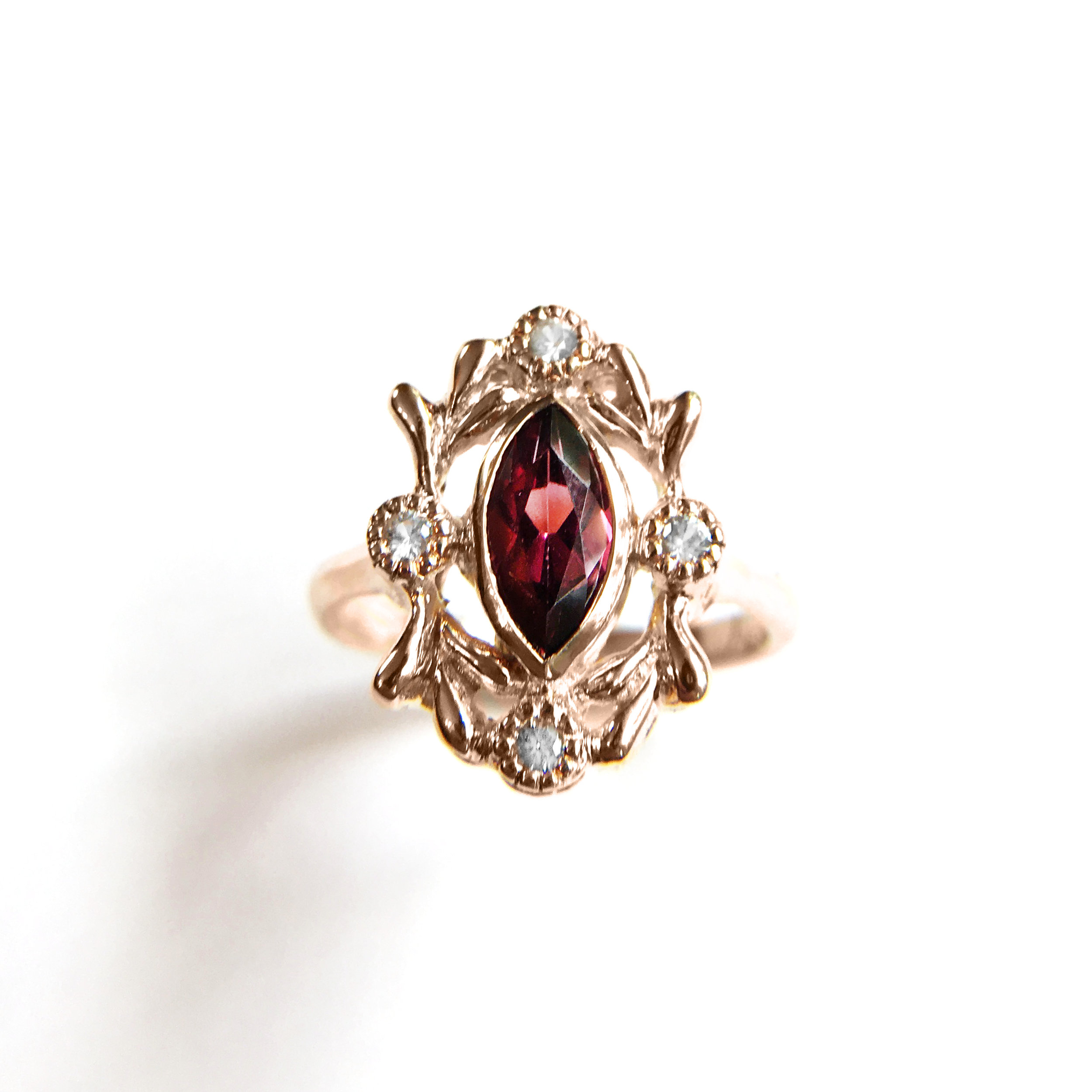 French Rococo inspired cocktail ring