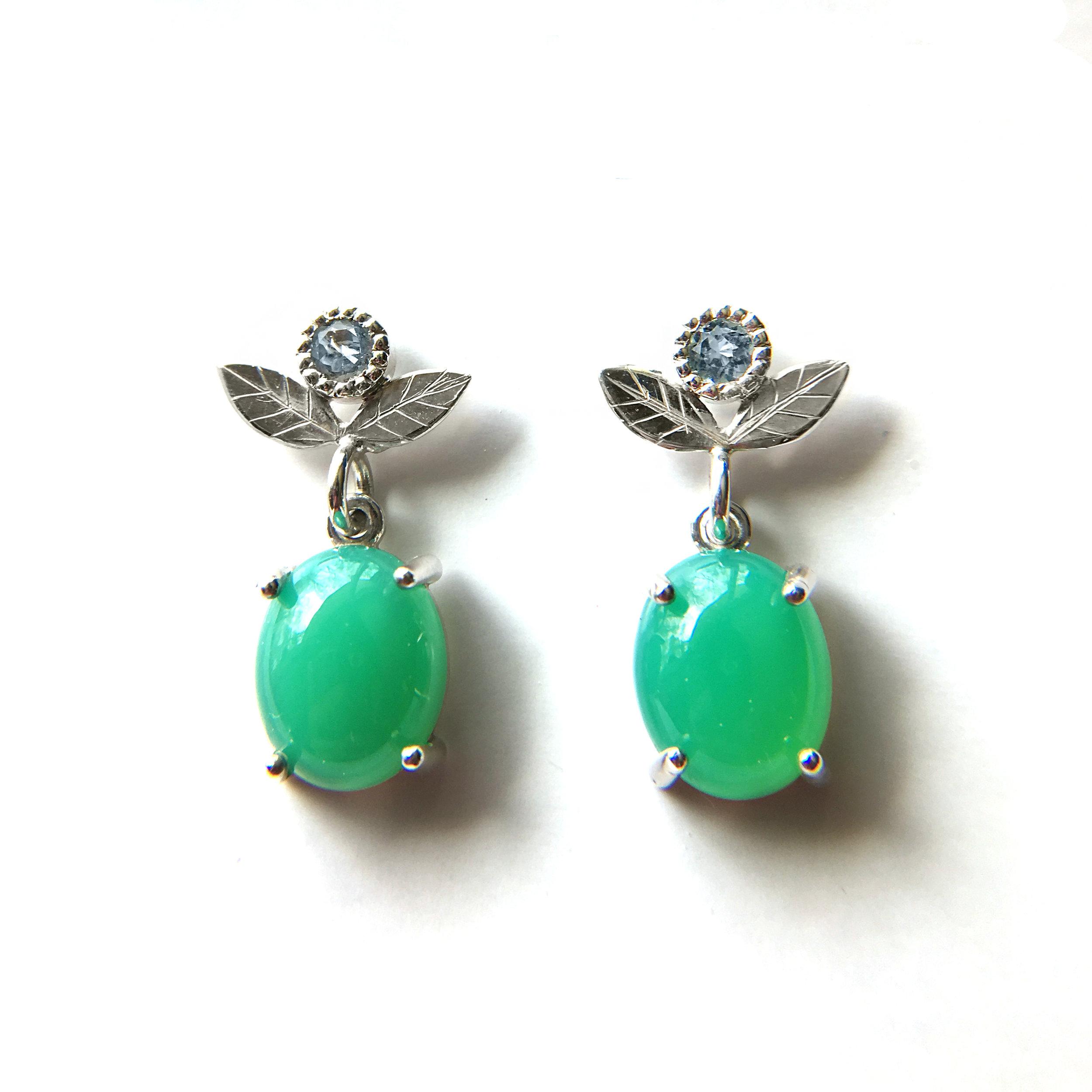 Floral inspired dangle post earrings