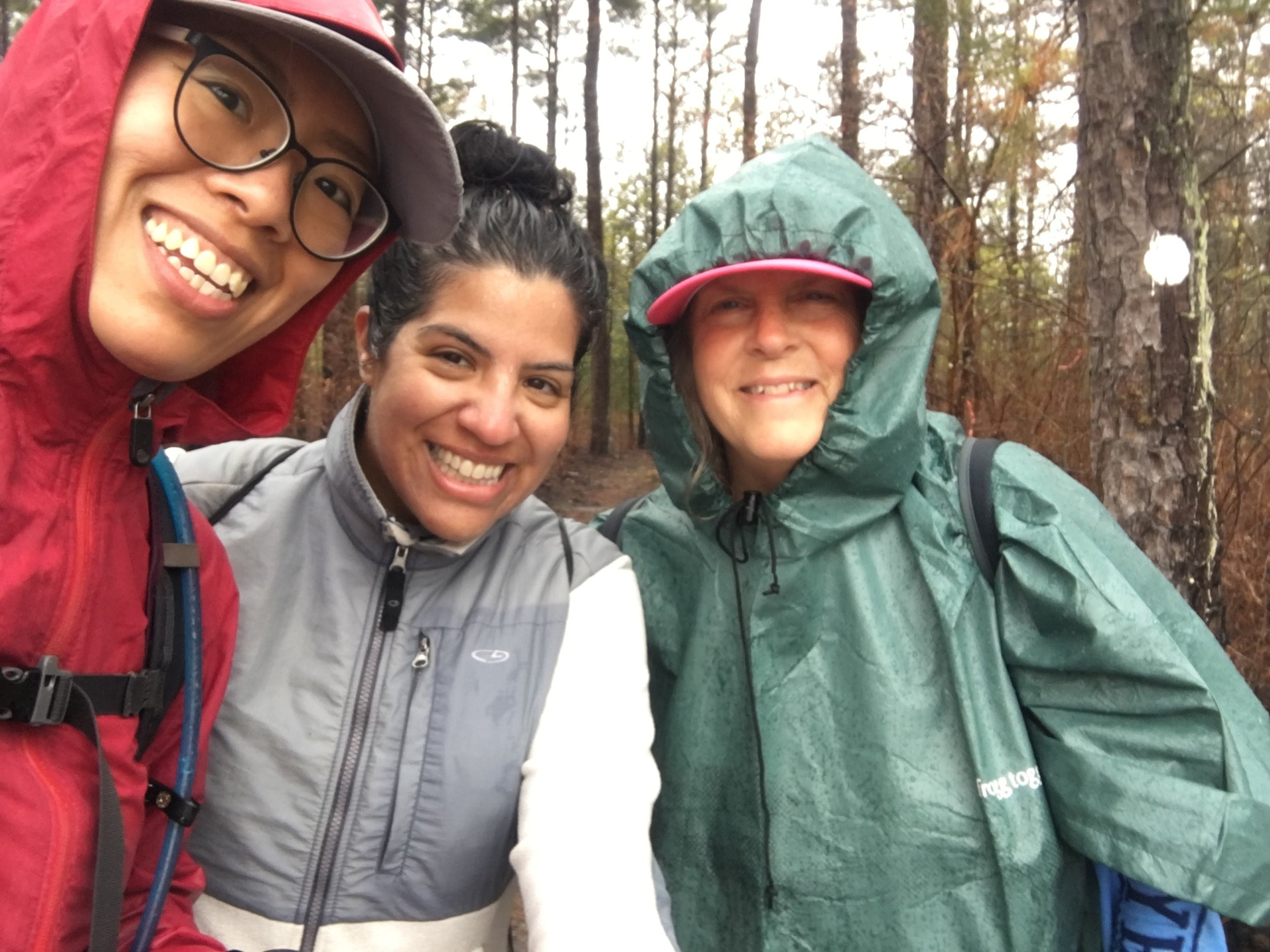 My most recent 17 mile training hike with other Trailblazers, in the 45 degree rain.