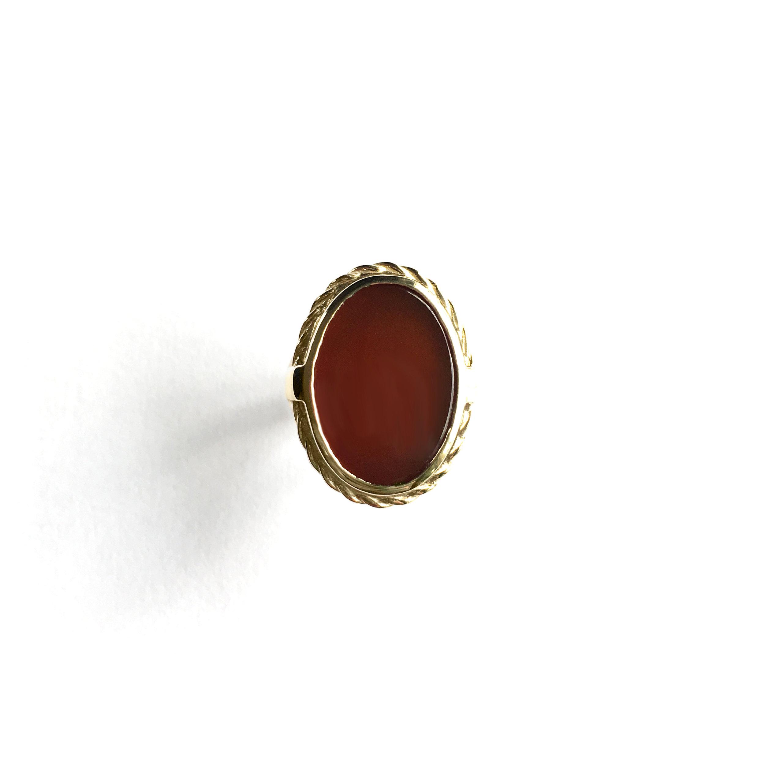 14ky Carnelian Signet Ring