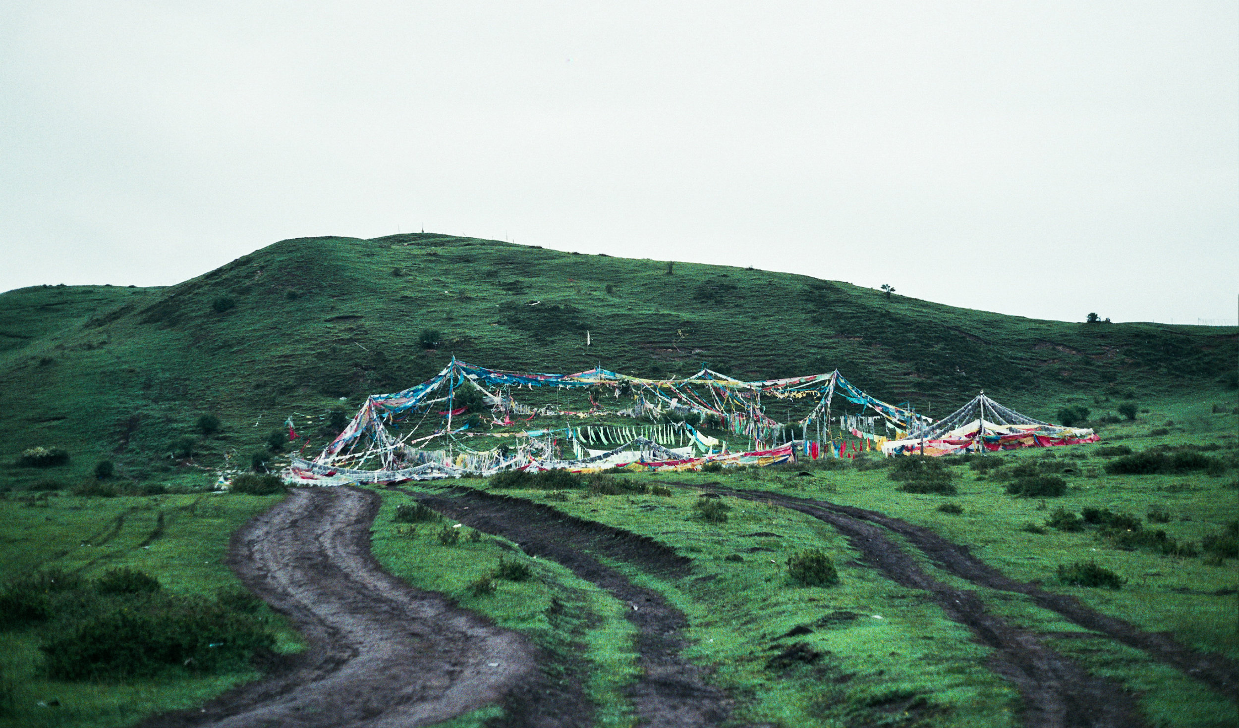 Sky Burial Site, Langmusi, Gansu Province, China