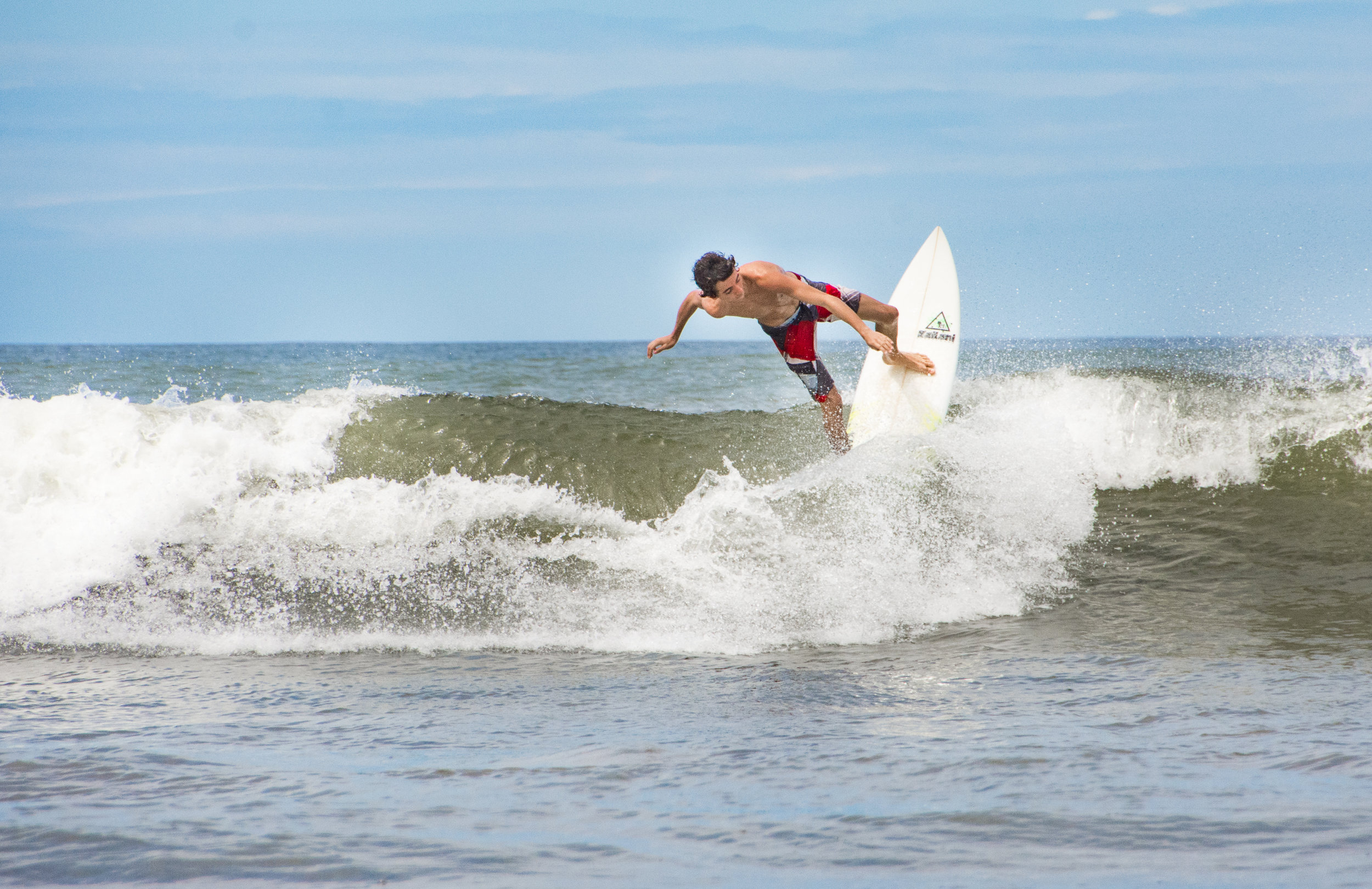 Going off the lip at Playa Hermosa, Costa Rica, 2017.
