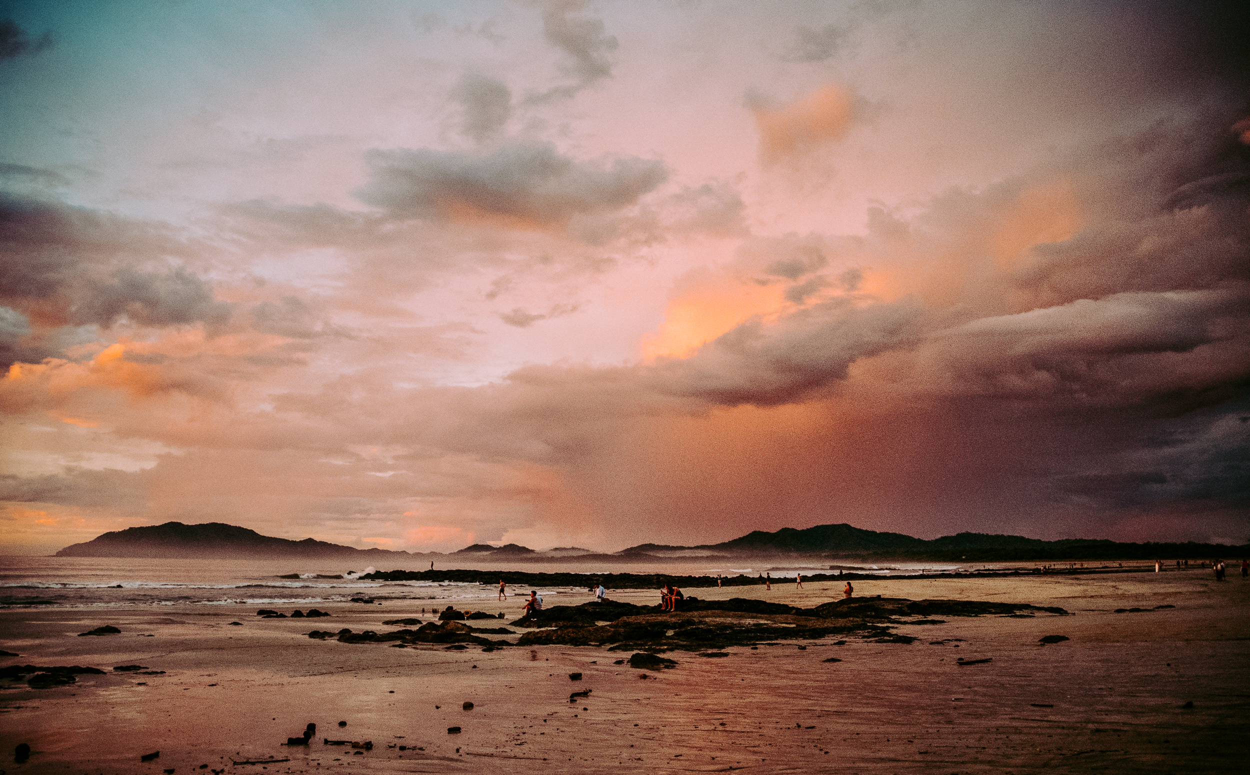 Sunsets in Tamarindo were some of the best I've seen. With the sea mist and colours, it almost appeared to be another planet.
