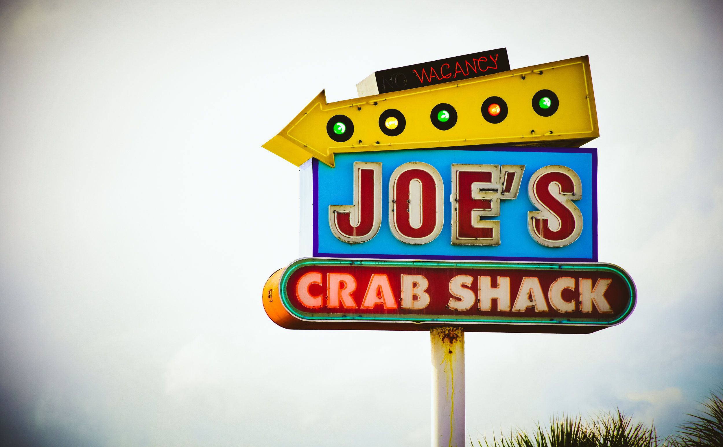 Joe's Crab Shack in Jacksonville was absolutely PACKED. We had hoped for some fresh crab whilst down south and on the ocean but it was not to be.