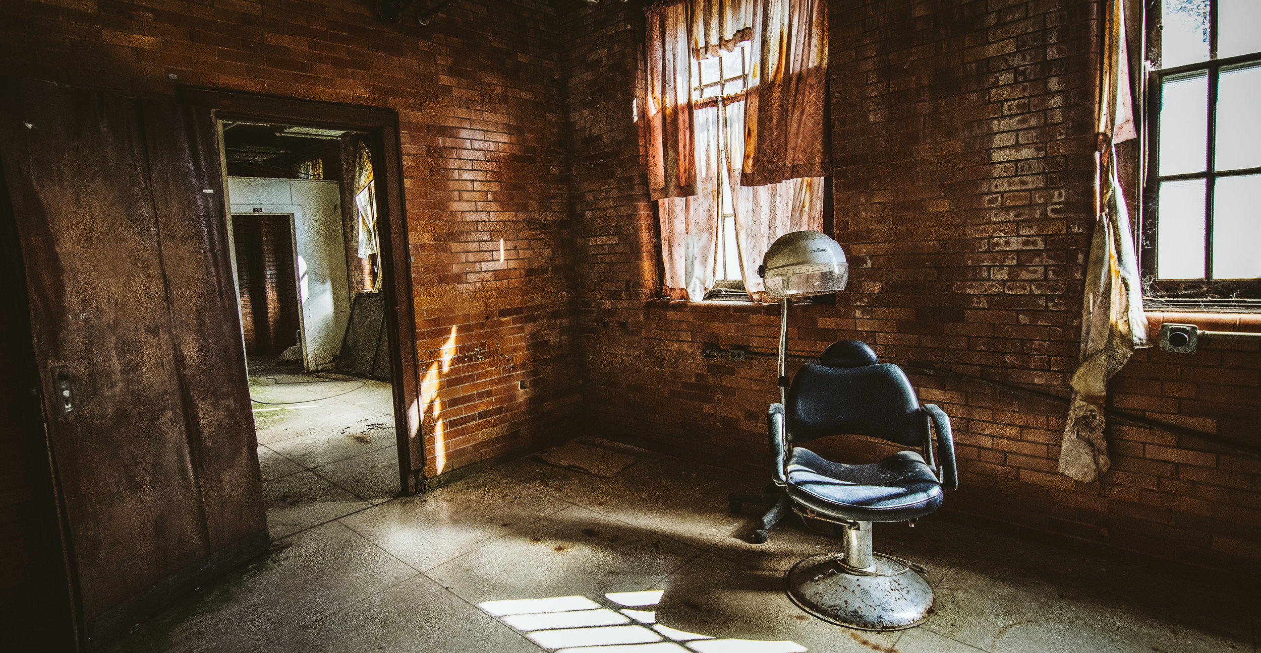 The barber shop in the medical building.