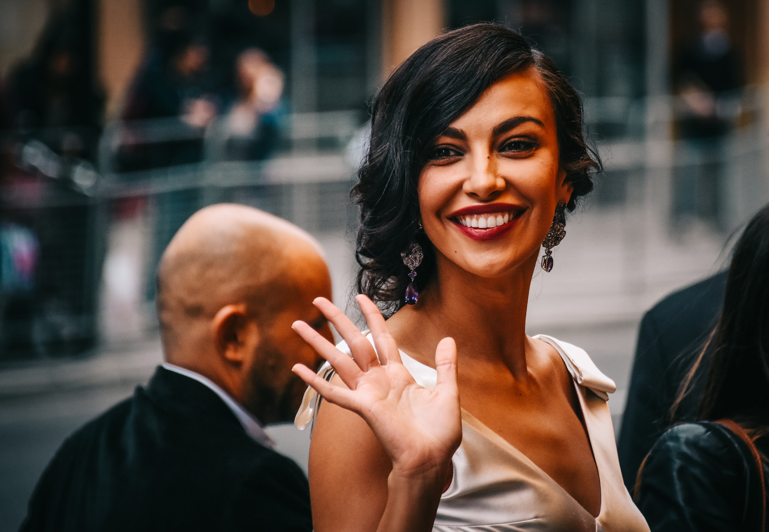 Romanian model and actress Mădălina Ghenea on Yonge Street.