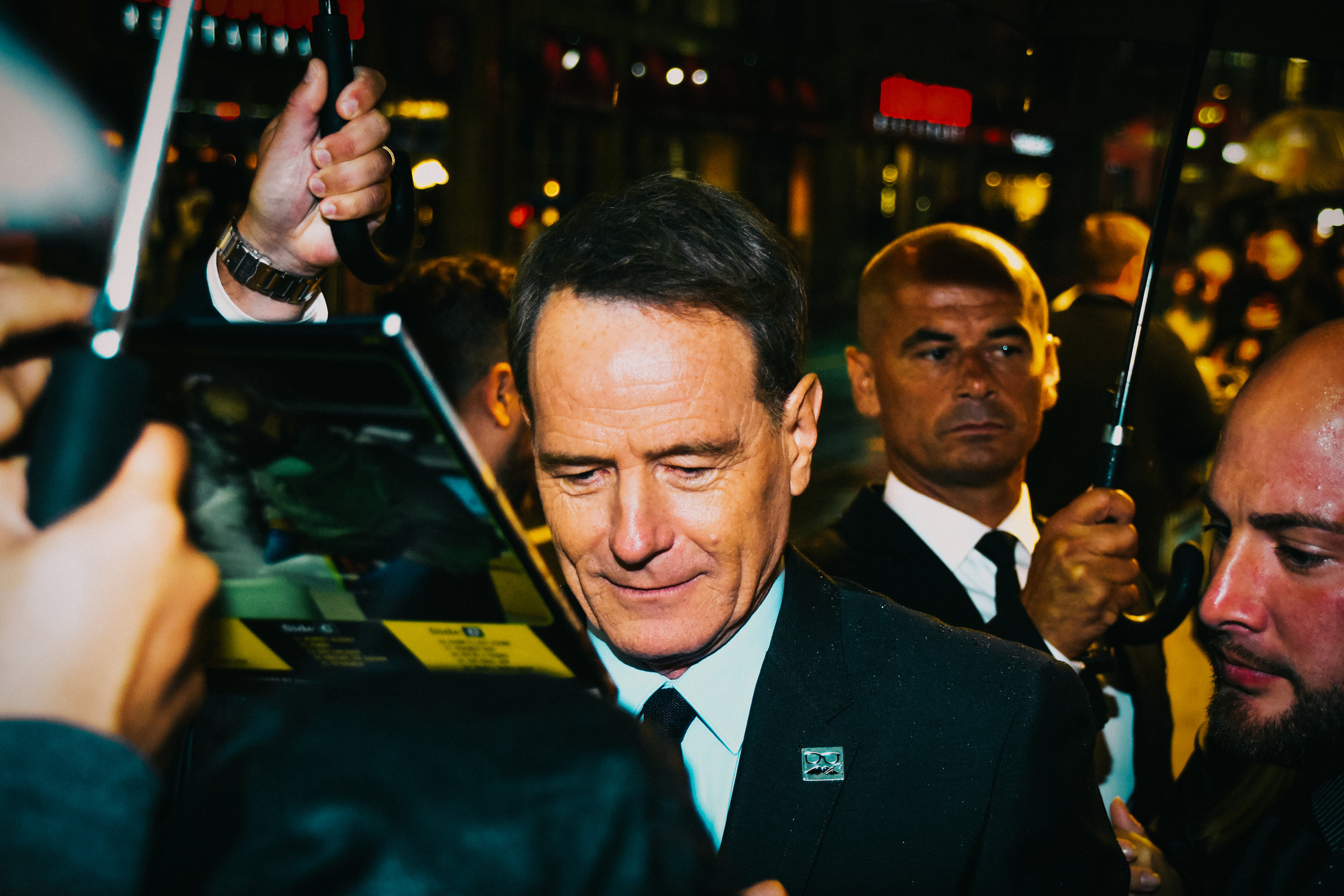 It was an absolute zoo for Bryan Cranston!