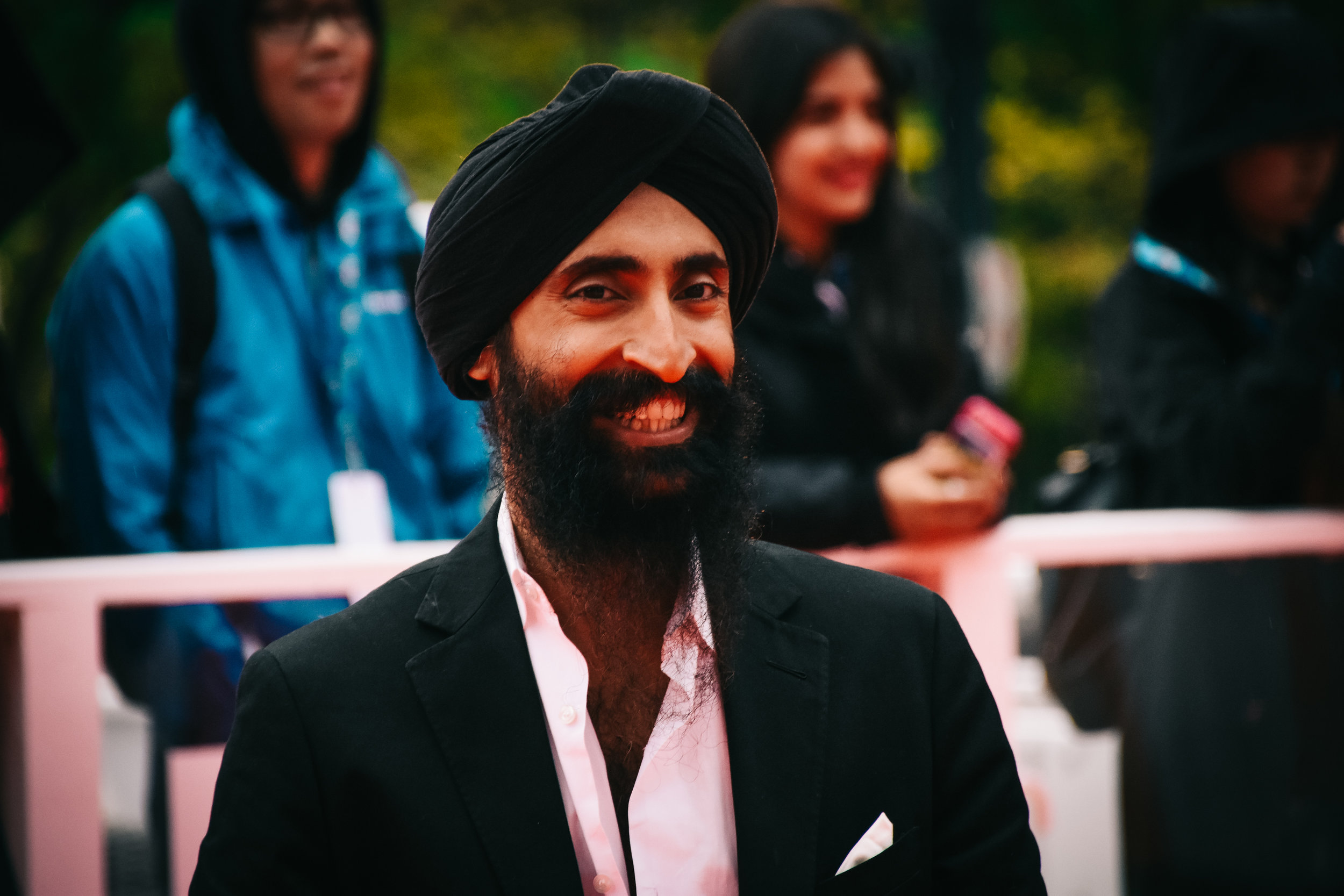Waris Ahluwalia smiles for the cameras.