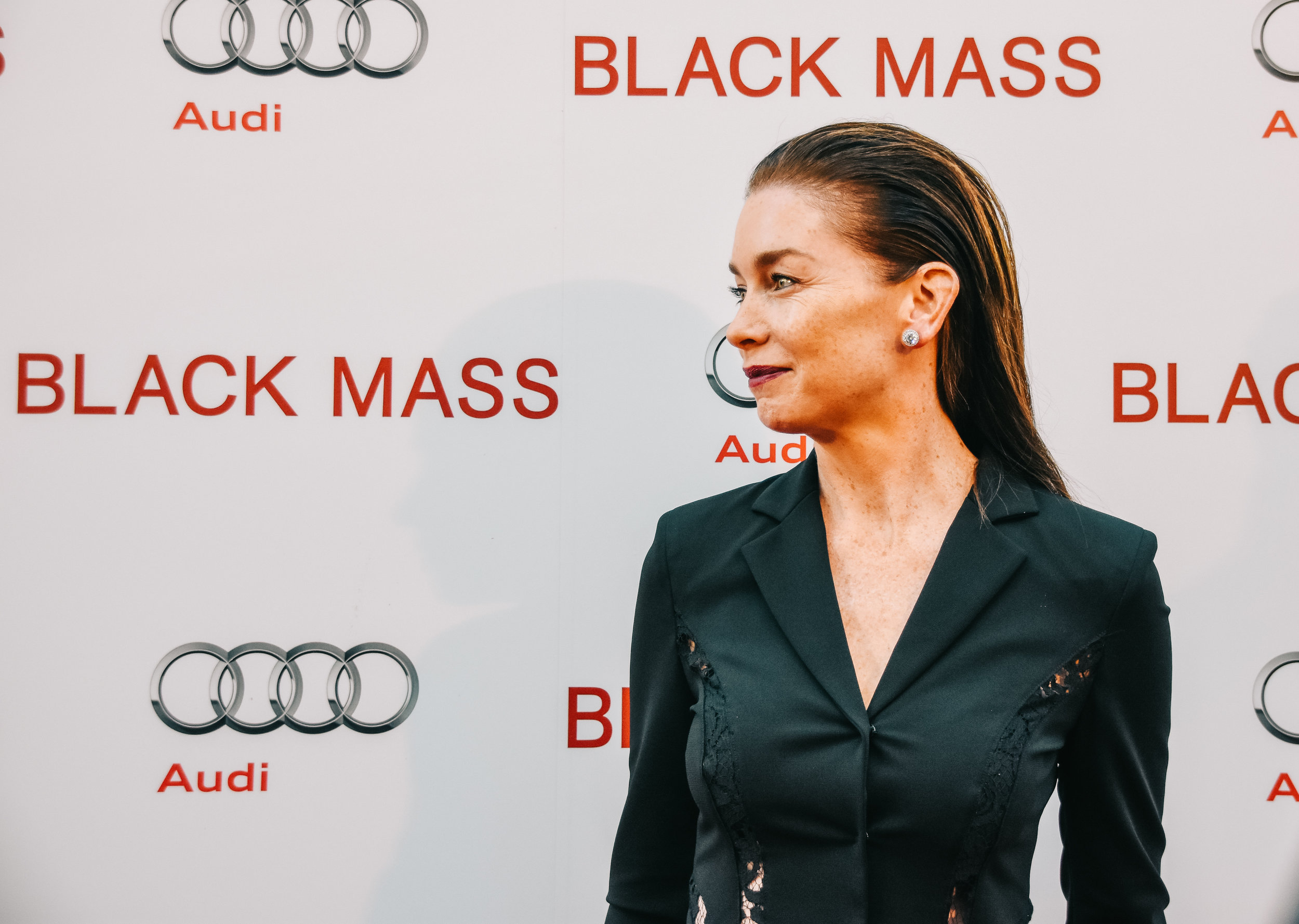 On of my personal favourite actresses Julianne Nicholson shows up for the pre-screening party for  Black Mass .