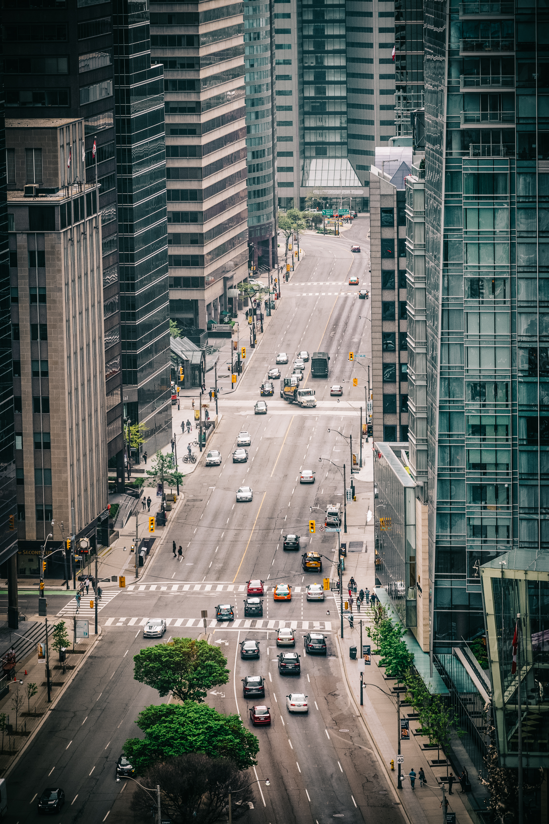 The view down University from the Canada Life building.