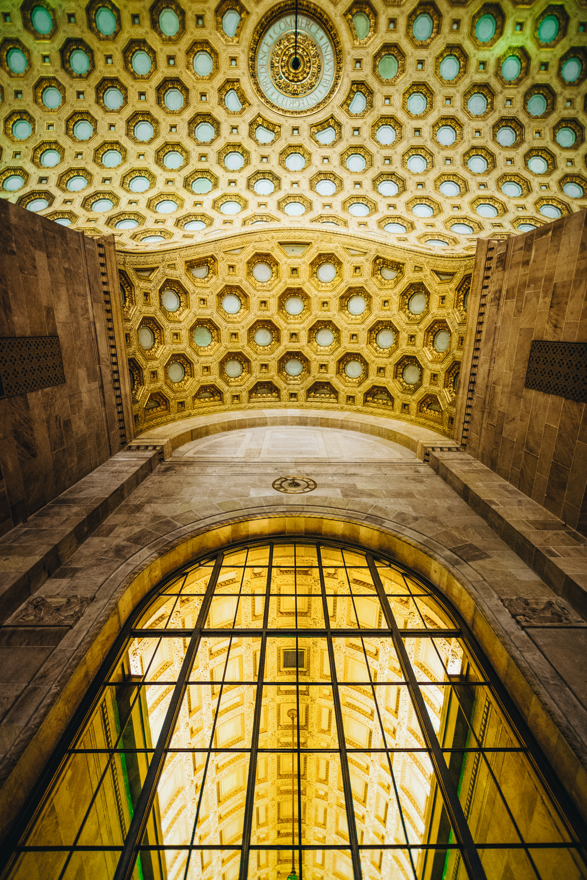 The famous ceiling of Commerce Court North.