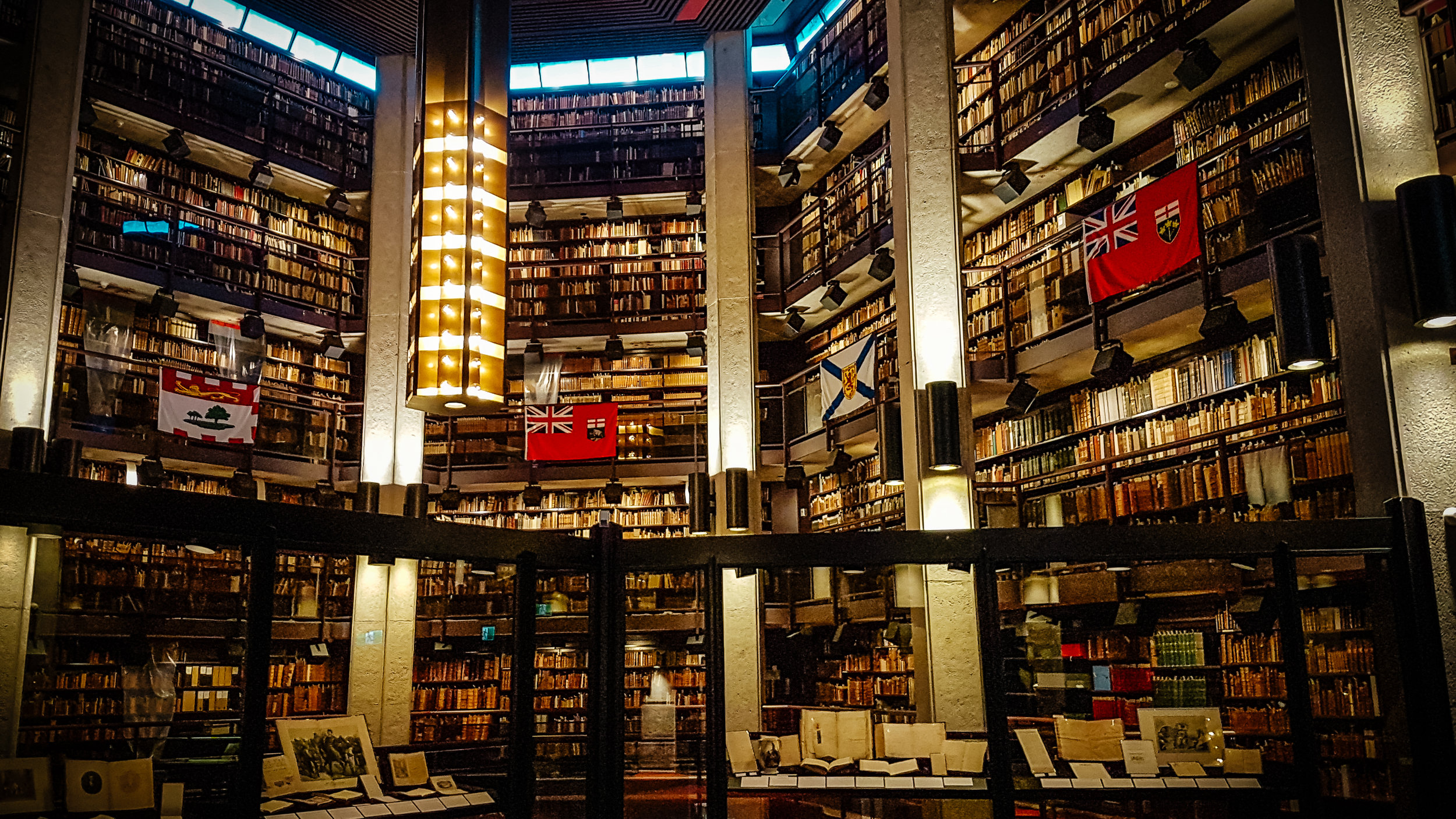 The Thomas Fisher Rare Book library. As a U of T student, I though I'd be able to get better access to the stacks, but alas, that was not tobe. I guess you need a special membership?