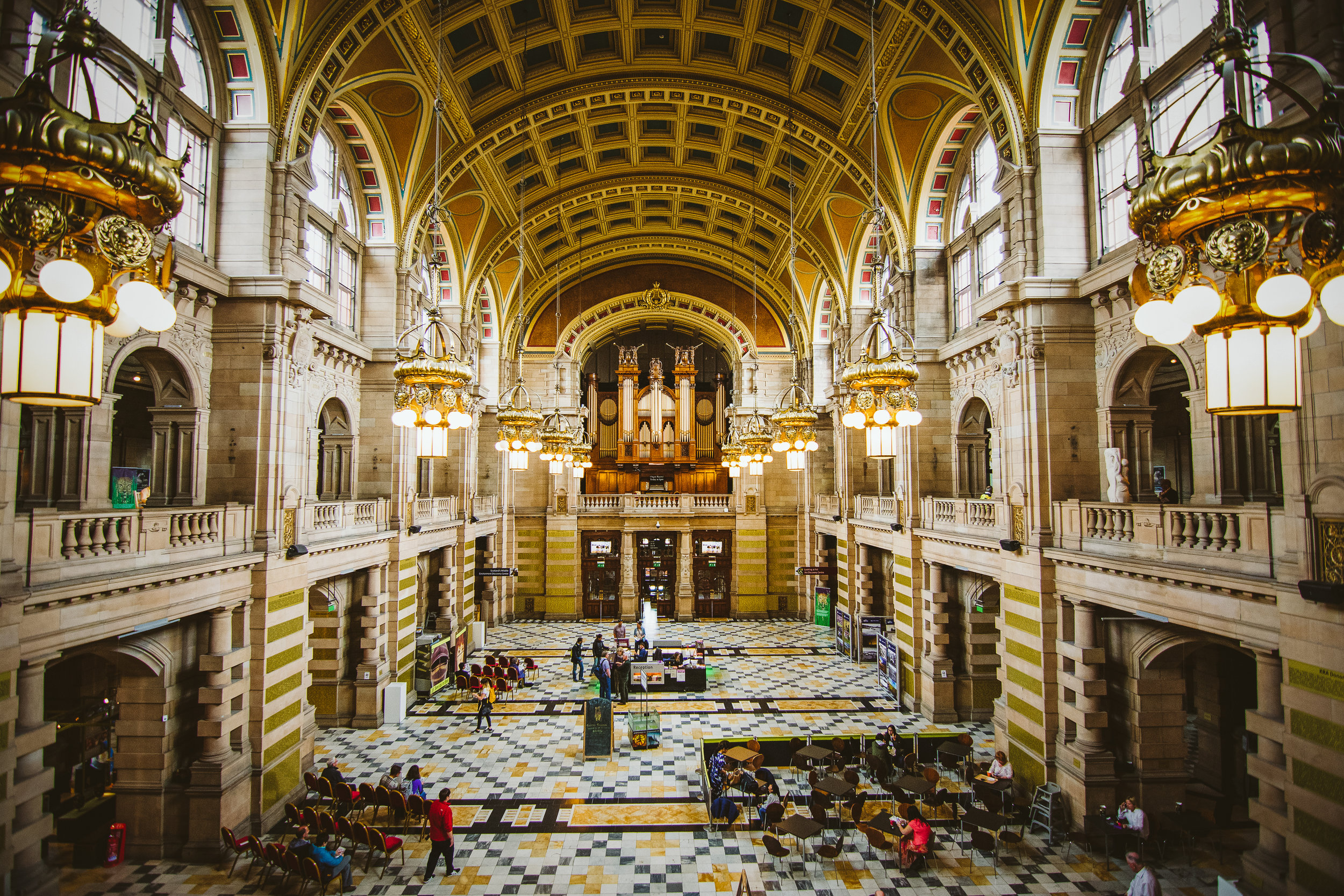 The main foyer of the Kelvingrove Museum. There is quite a bit to explore, even for people who aren't that into art. Even so, the Dali painting was quite mesmerising.