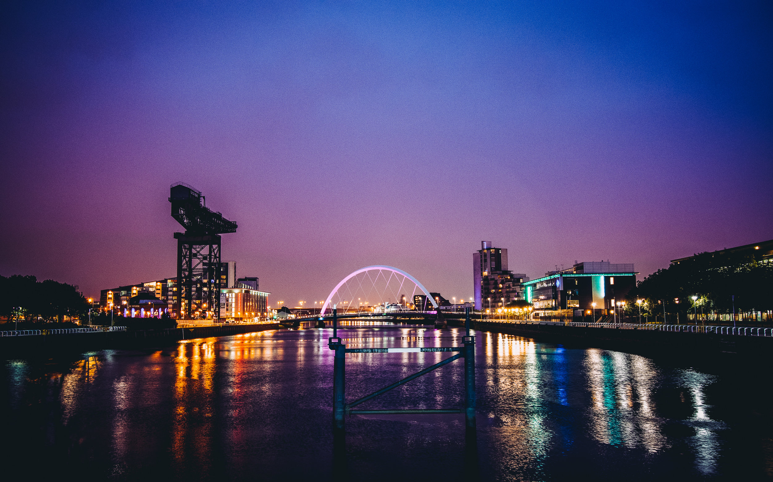 The River Clyde. Don't let anyone tell you Glasgow isn't a pretty place.