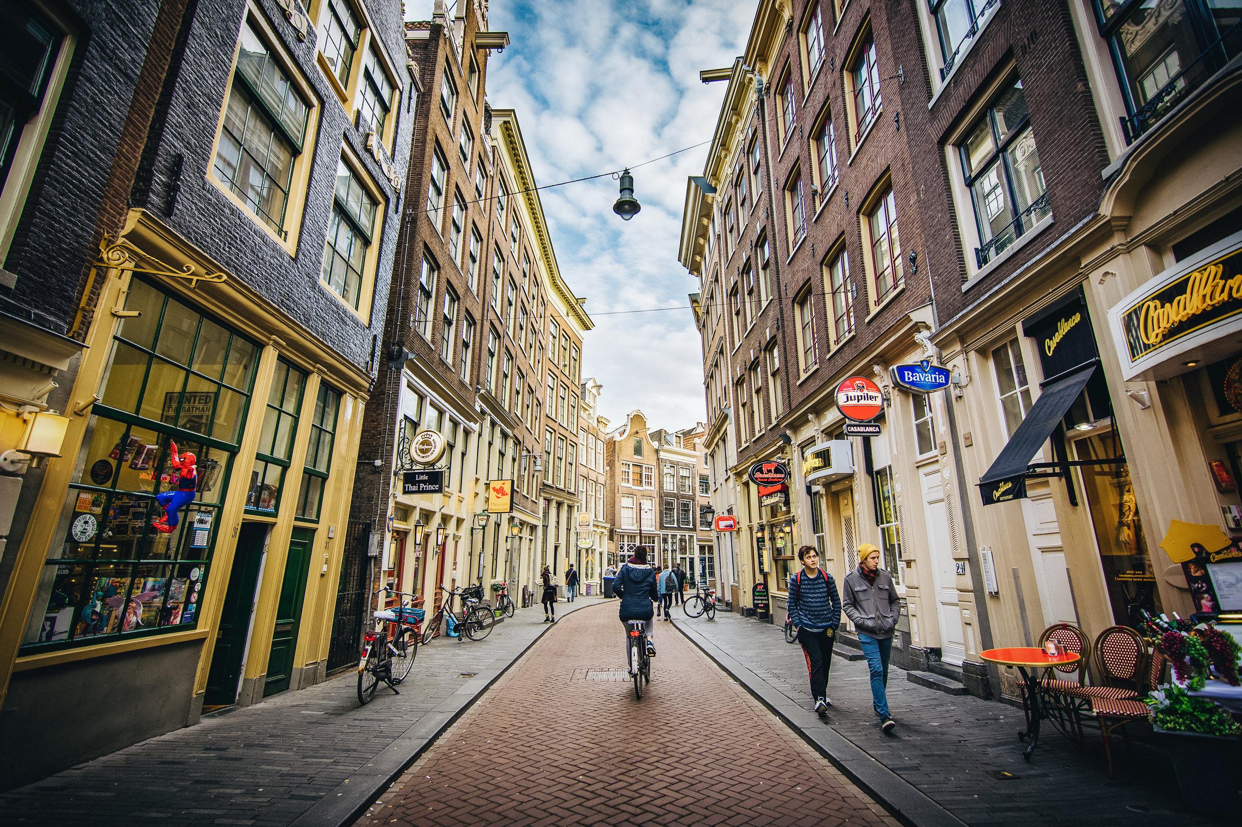 Streets of Amsterdam.