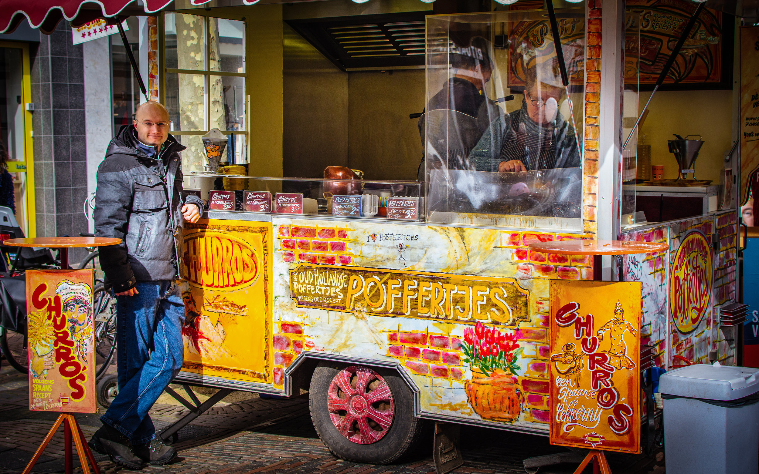 So, I mentioned stroopwafels already but these are right up there too! Try the poffertjes! Don't load them down with toppings. Just take 'em with icing sugar and butter and enjoy.