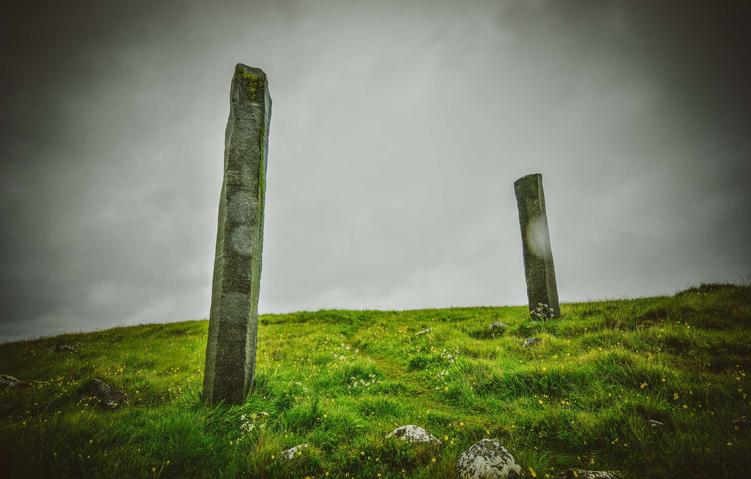 """Standing stones, or """"Áfangar"""" by Richard Serra. Read more about it  here ."""