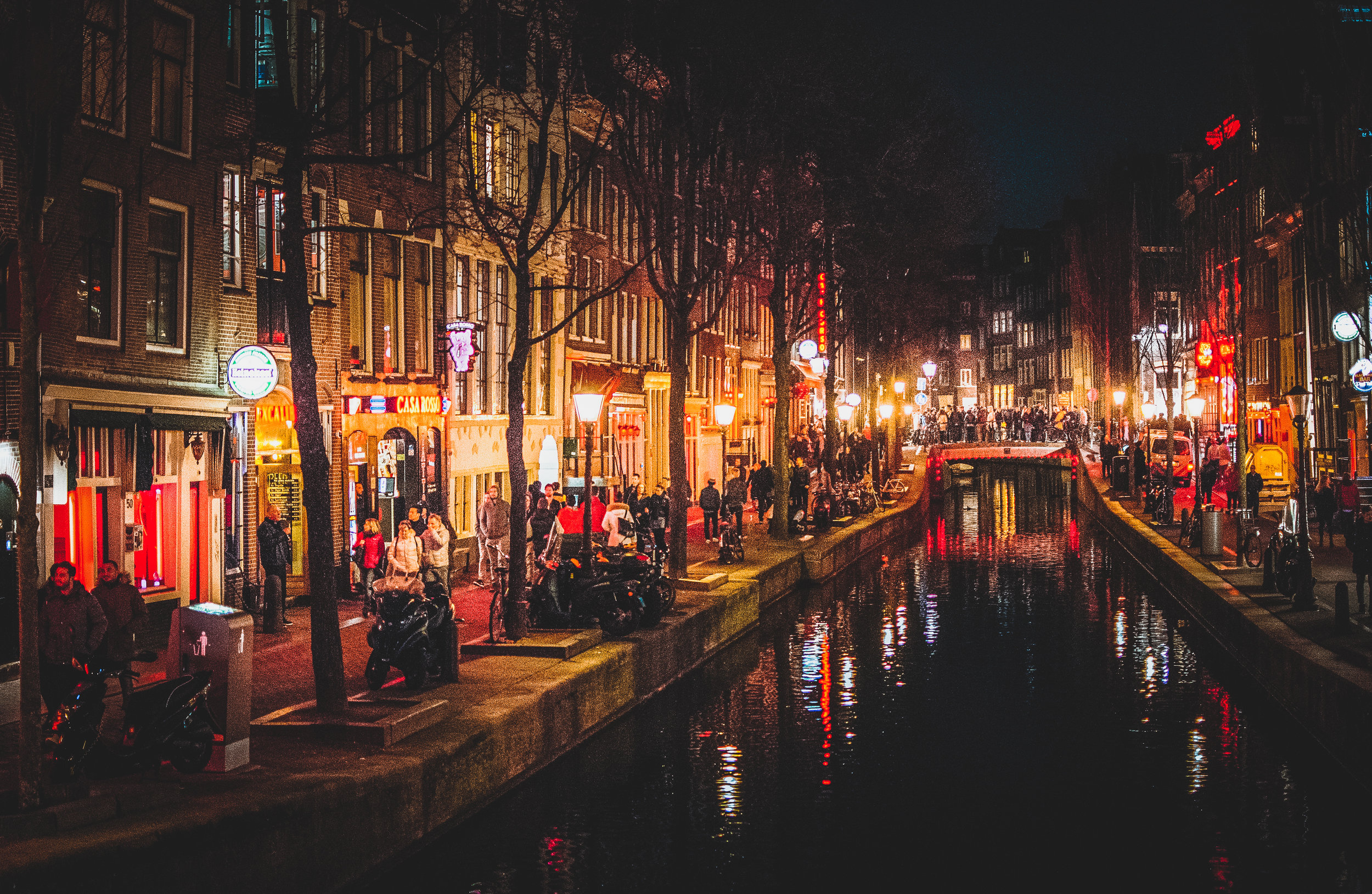 The Red Light District of Amsterdam Central. It's not quite as seedy as you would expect, and feels very safe for tourists... but it is BUSY.