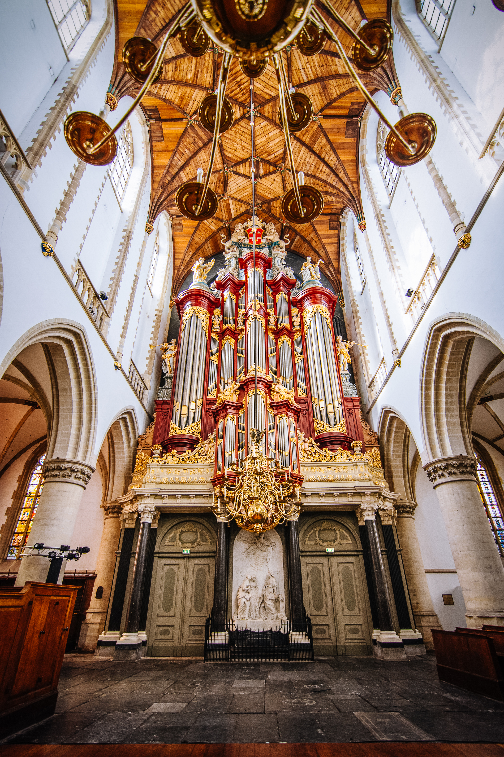 The Cathedral of St. Bavo in Haarlem, aka Grote Kerk. It is the burial place of beloved giant Daniel Cajanus with his small friend Jan Paap.
