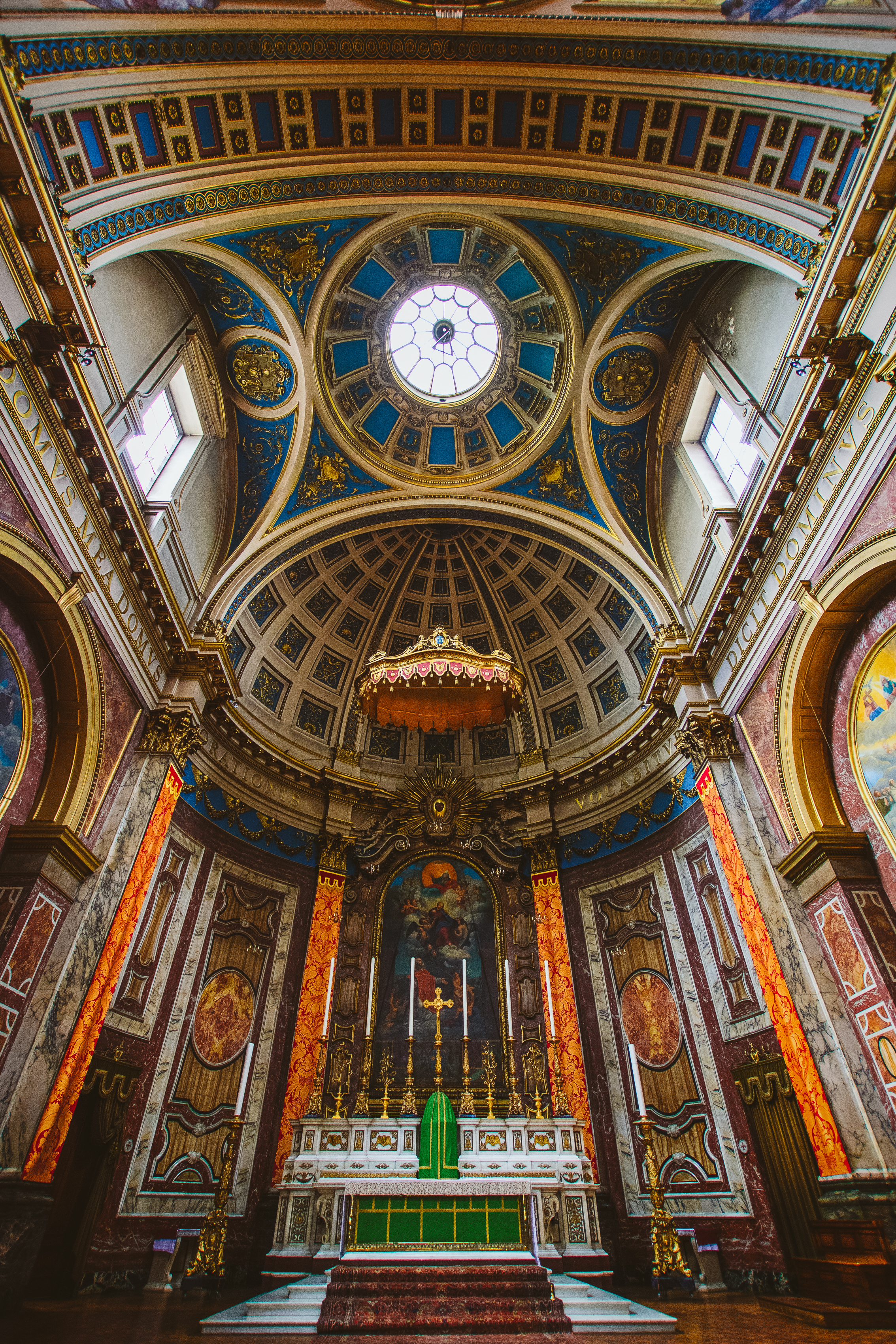 The London Oratory was quite the little cathedral. It doesn't look like much from the outside but these Catholics sure know how to make excessive ornate places of worship.