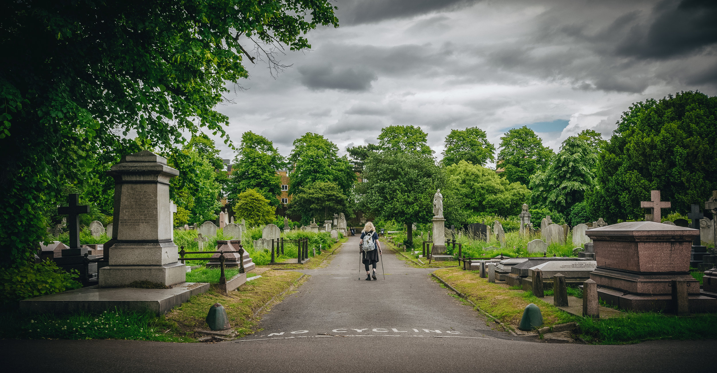 One final shot thanks to our neighbourhood cemetery!