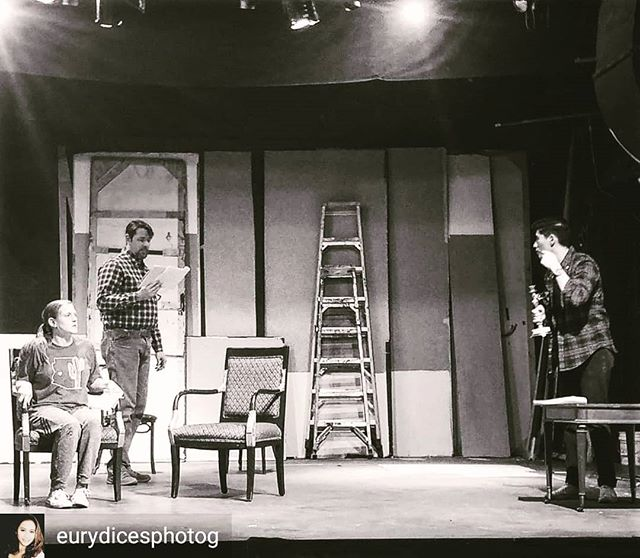 """Wait until Dark"" rehearsal are under way.  Afraid of the dark?  #waituntildark #elpasoplayhouse #elpasotheatre"