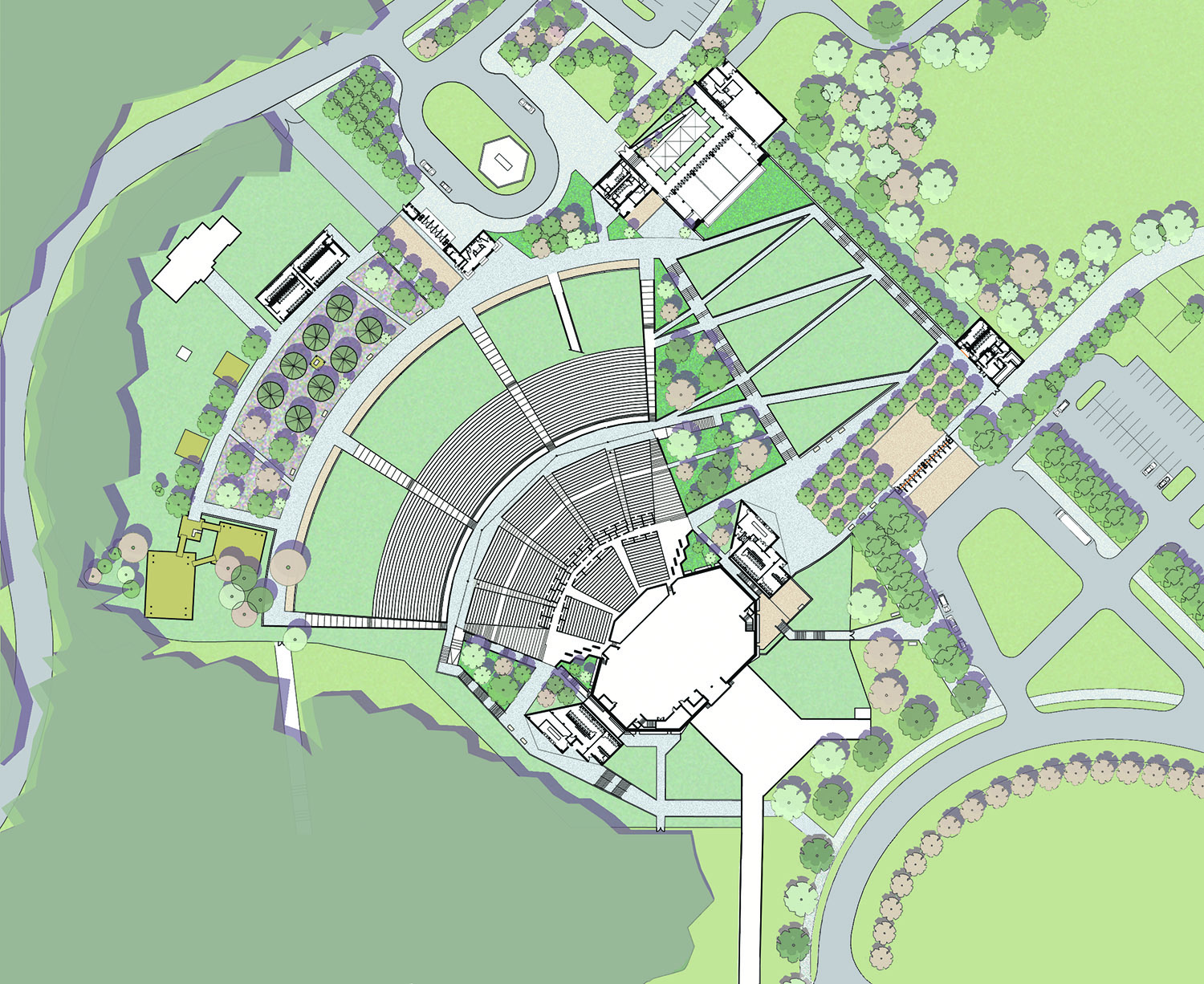 The Mann Center for Performing Arts - Master Plan, Pavilions, and Grounds Expansion