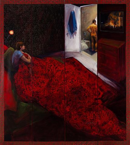 Night ,oil on canvas panels 72x72, 2011