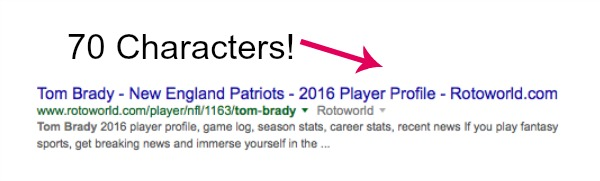 Some Page Titles are 70 Characters in the SERPs now!