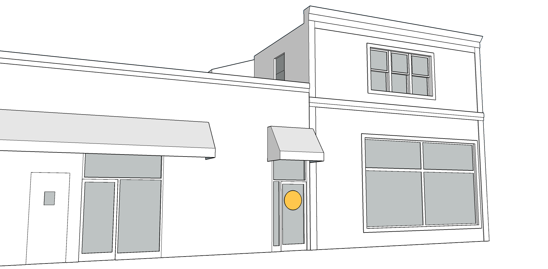 WINDOW SIGN   - Not to exceed 20 SF.  - Not to exceed 25% of window area.  - Neon signs cannot be larger than 6 SF.  - Font cannot be taller than 8 in.  - Only one window sign per business.