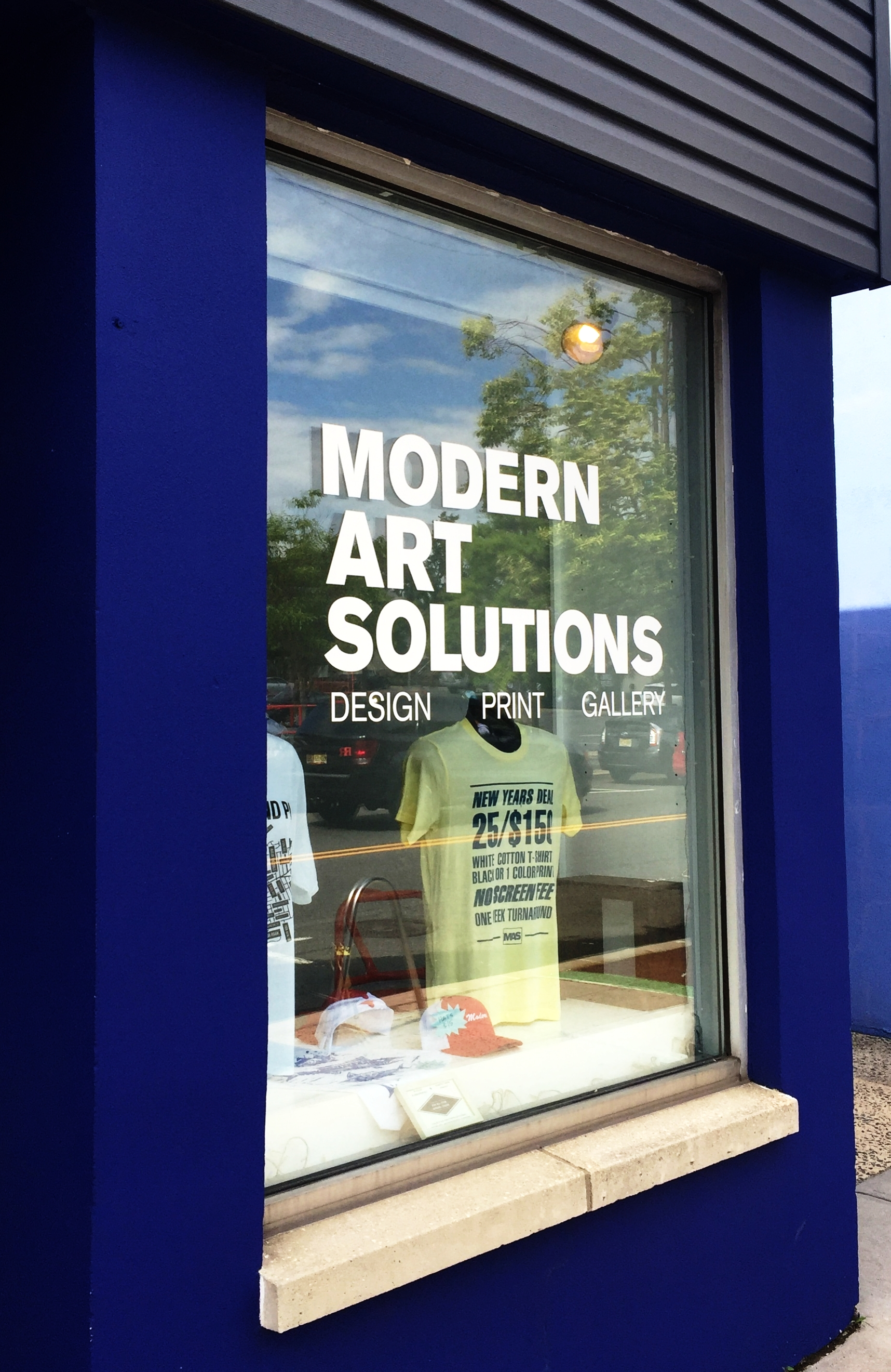 Window Sign at MAS
