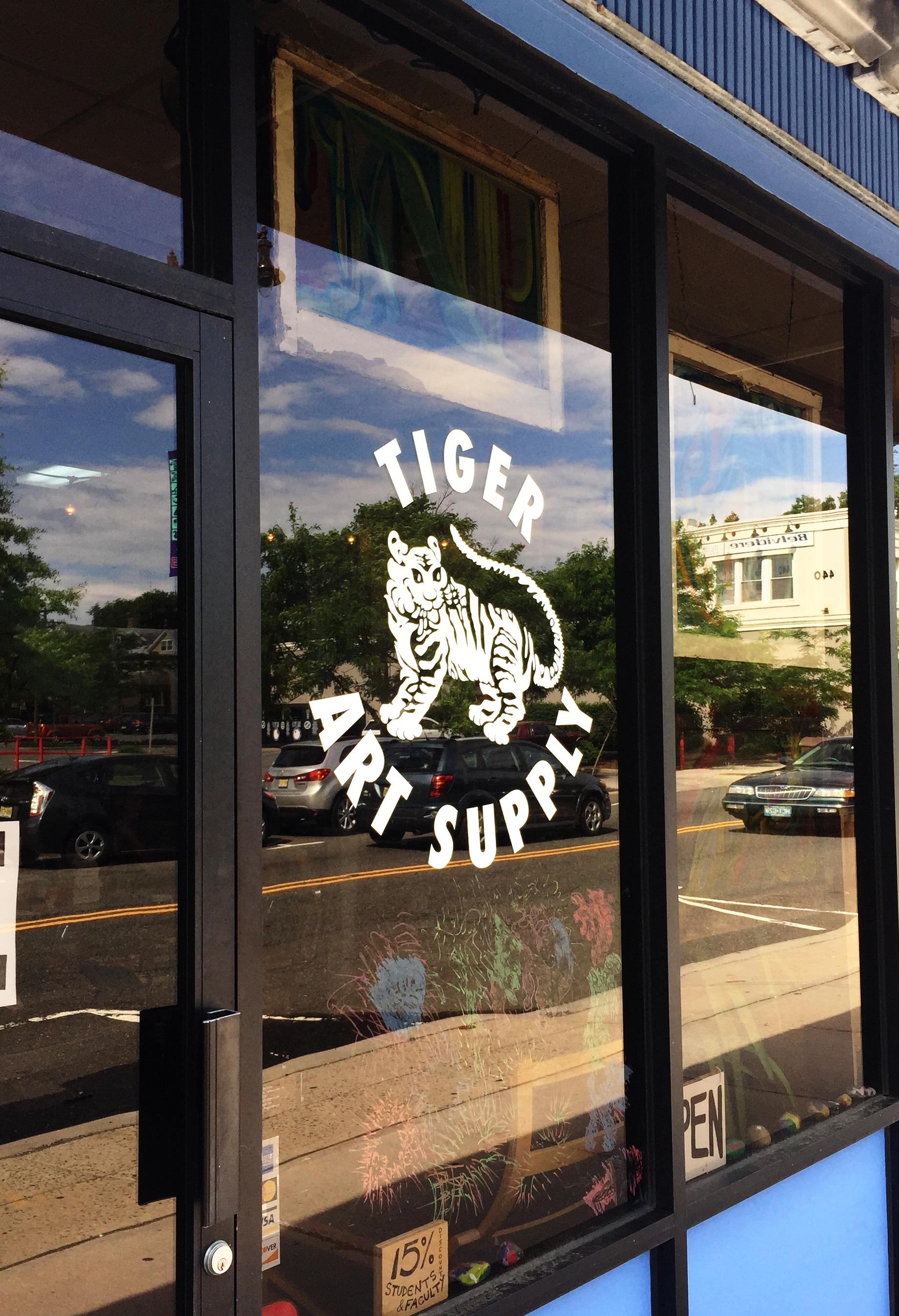 Window Sign at Tiger Art Supply