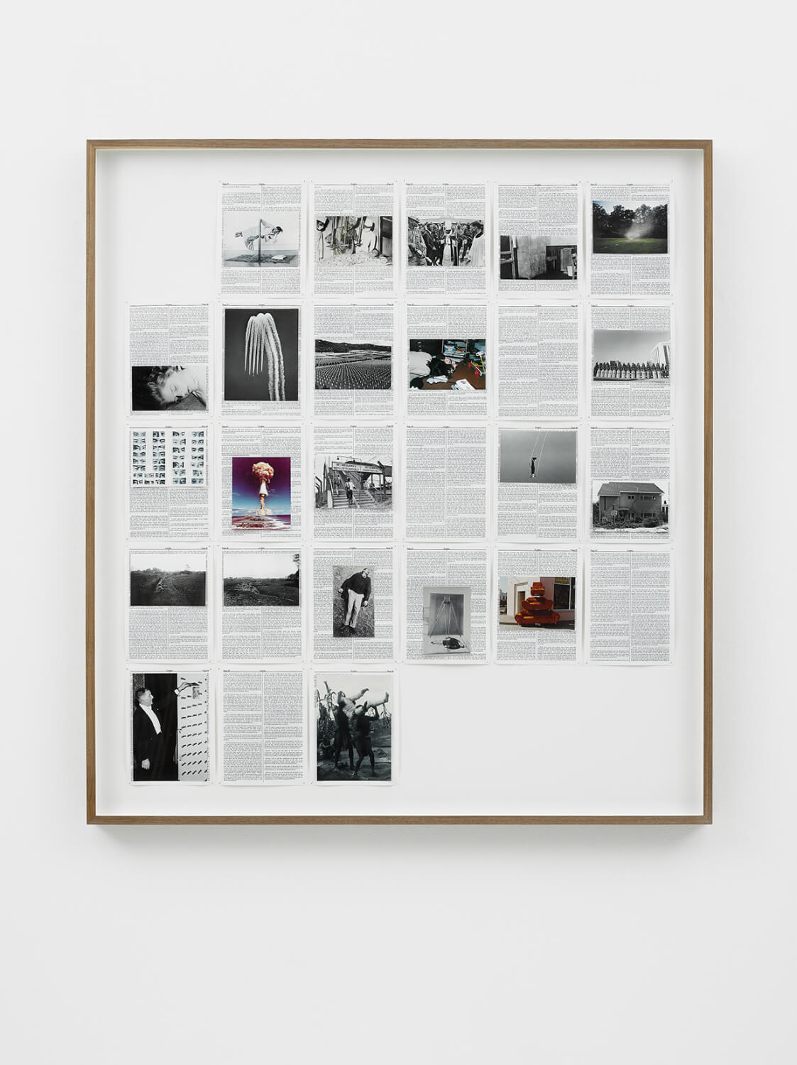 Exodus, Divine Violence, 2013, King James Bible, Hahnemühle print, brass pins, 1085mm x 1195mm, Image courtesy of Lisson Gallery, London